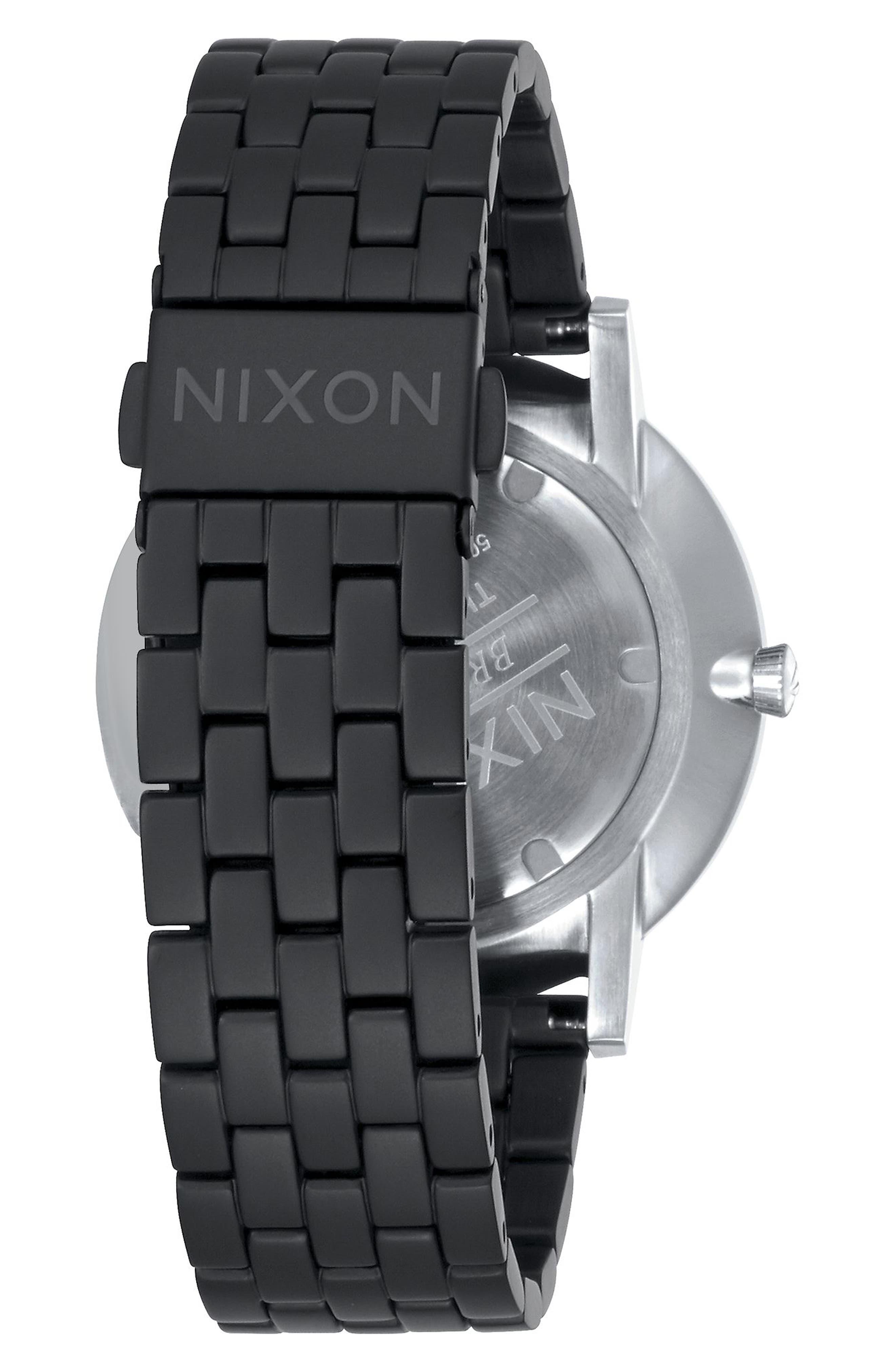 Porter Bracelet Watch, 40mm,                             Alternate thumbnail 2, color,                             Black/ Steel/ Silver
