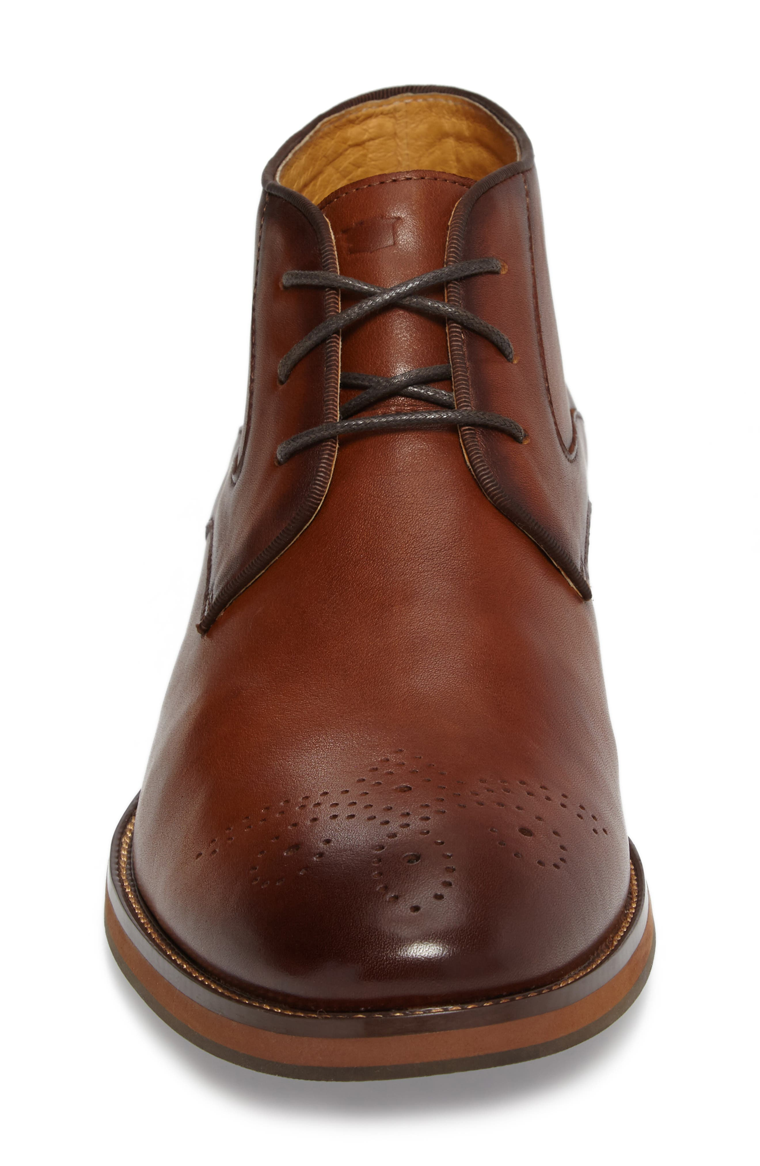 Blaze Chukka Boot,                             Alternate thumbnail 4, color,                             Cognac Leather