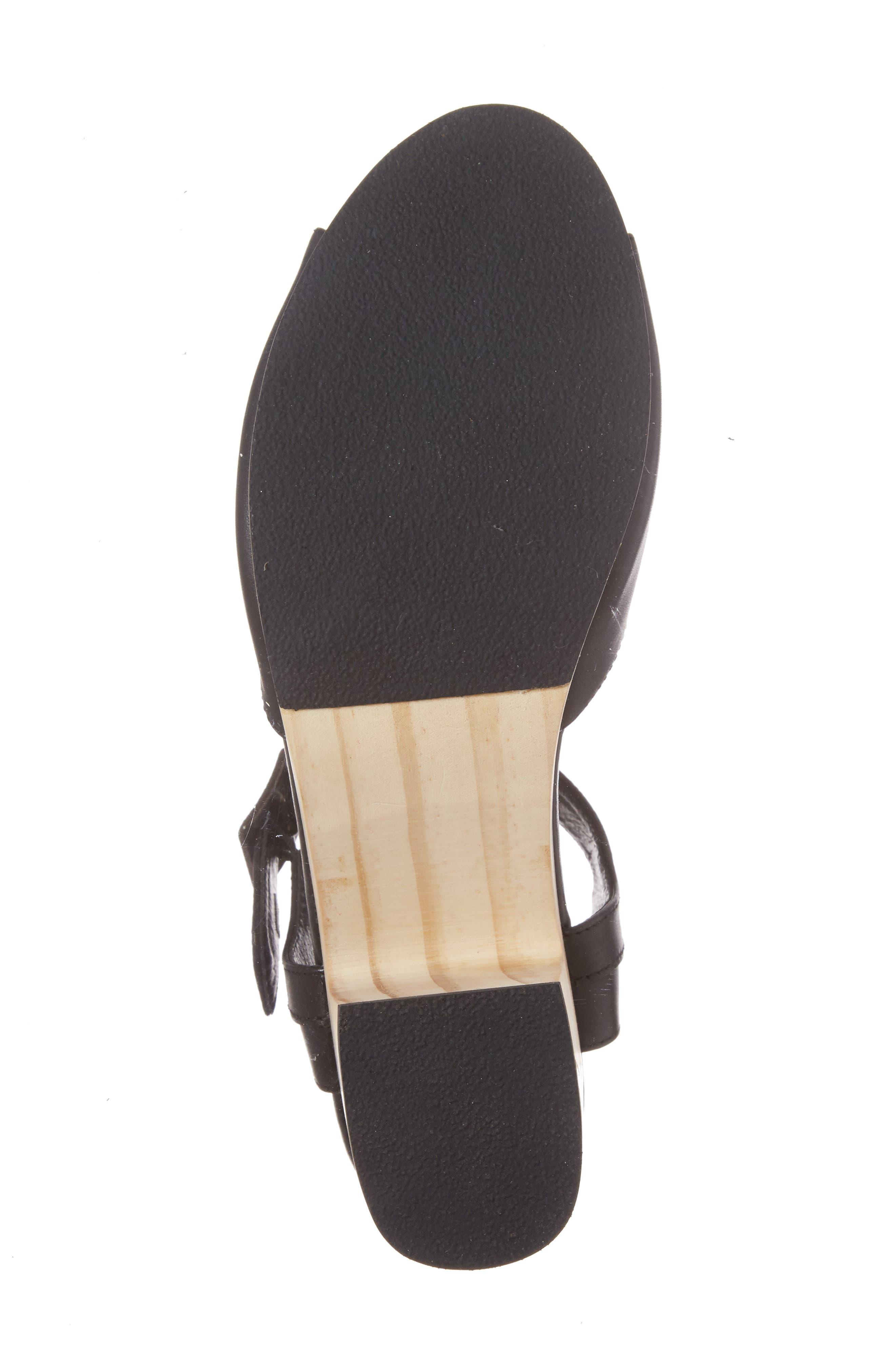 Montgomery Platform Sandal,                             Alternate thumbnail 6, color,                             Black Leather