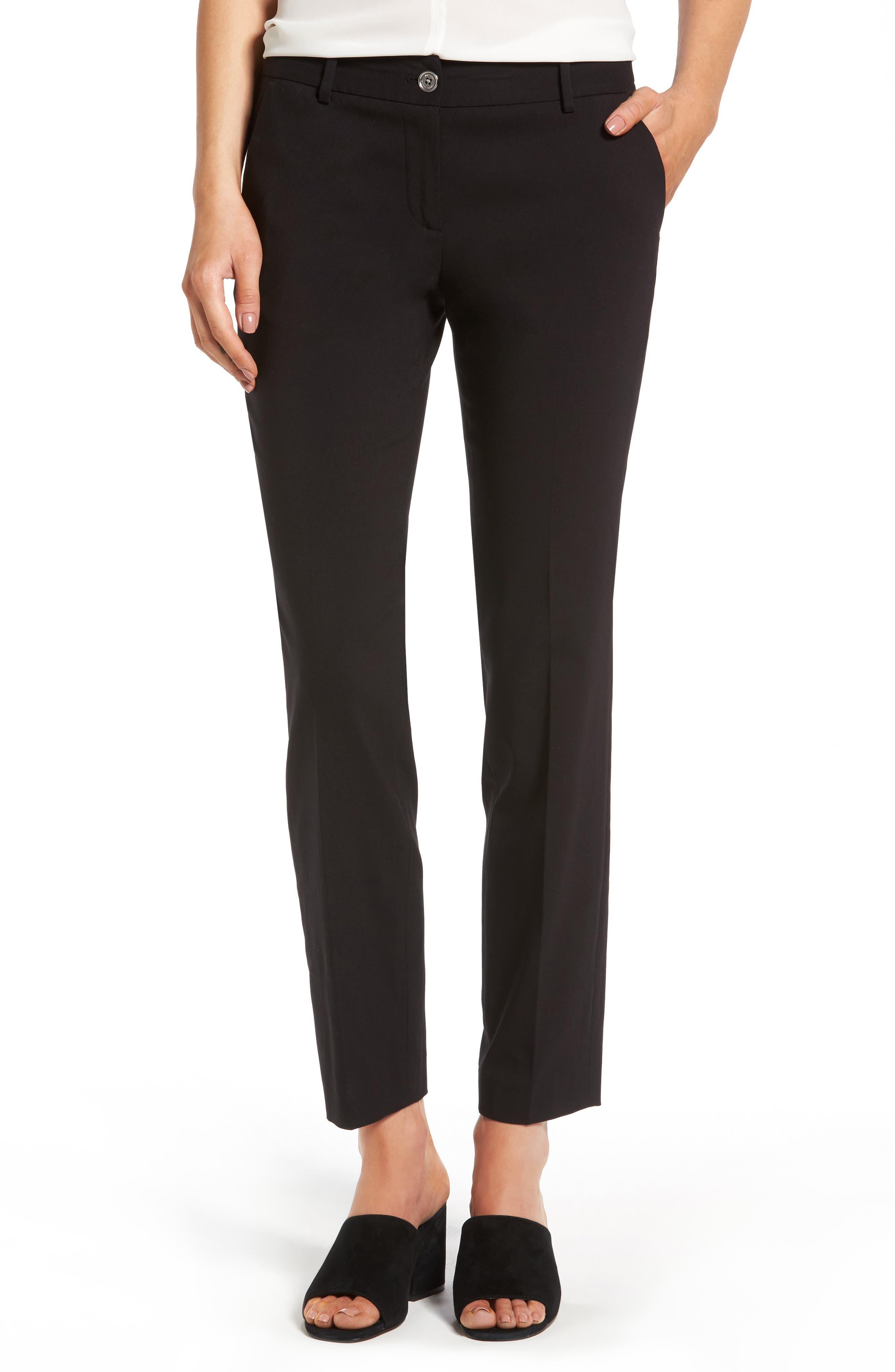 Miranda Slim Ankle Pants,                             Main thumbnail 1, color,                             Black