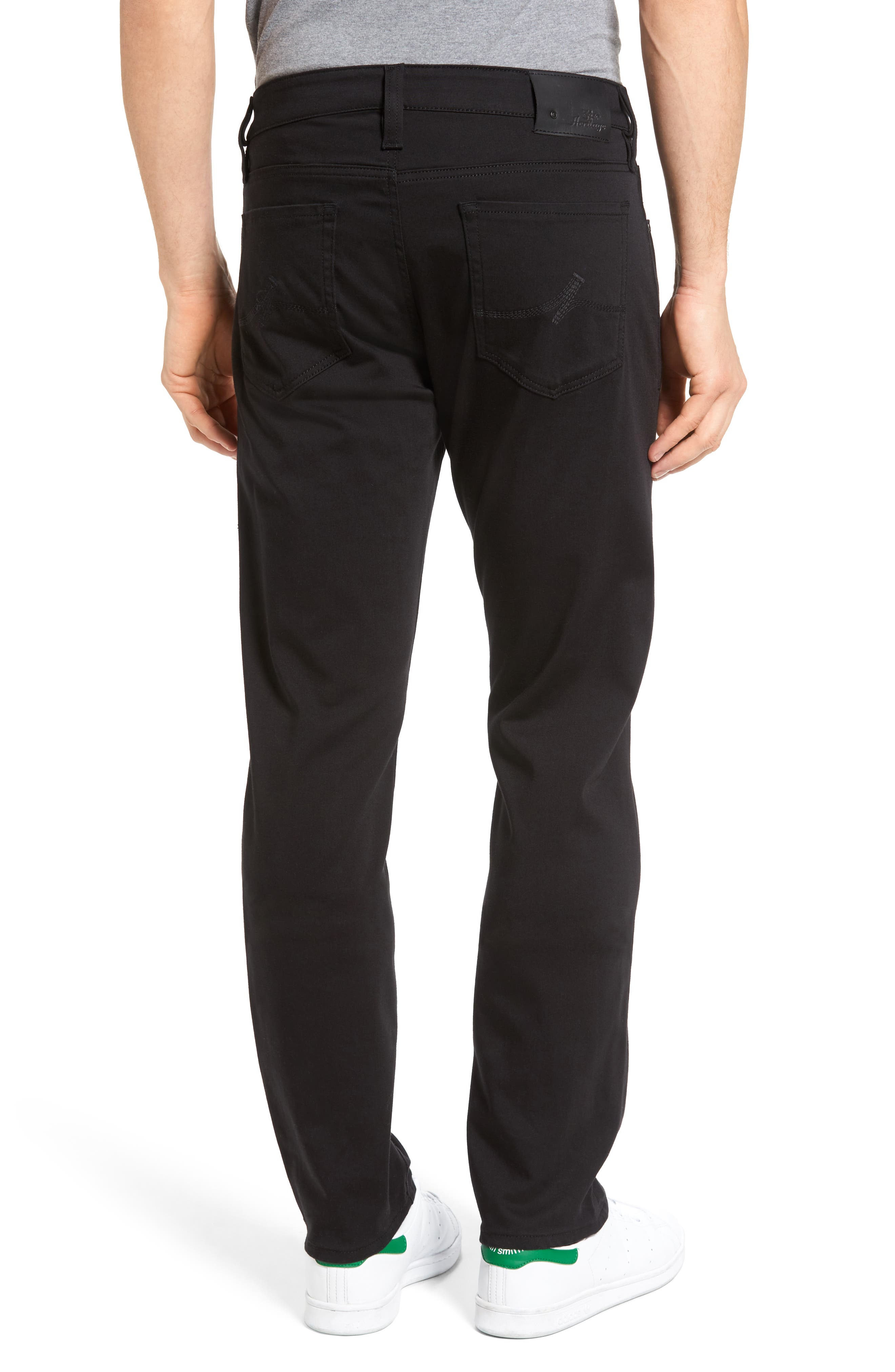 Alternate Image 2  - 34 Heritage Courage Straight Leg Jeans (Double Black)