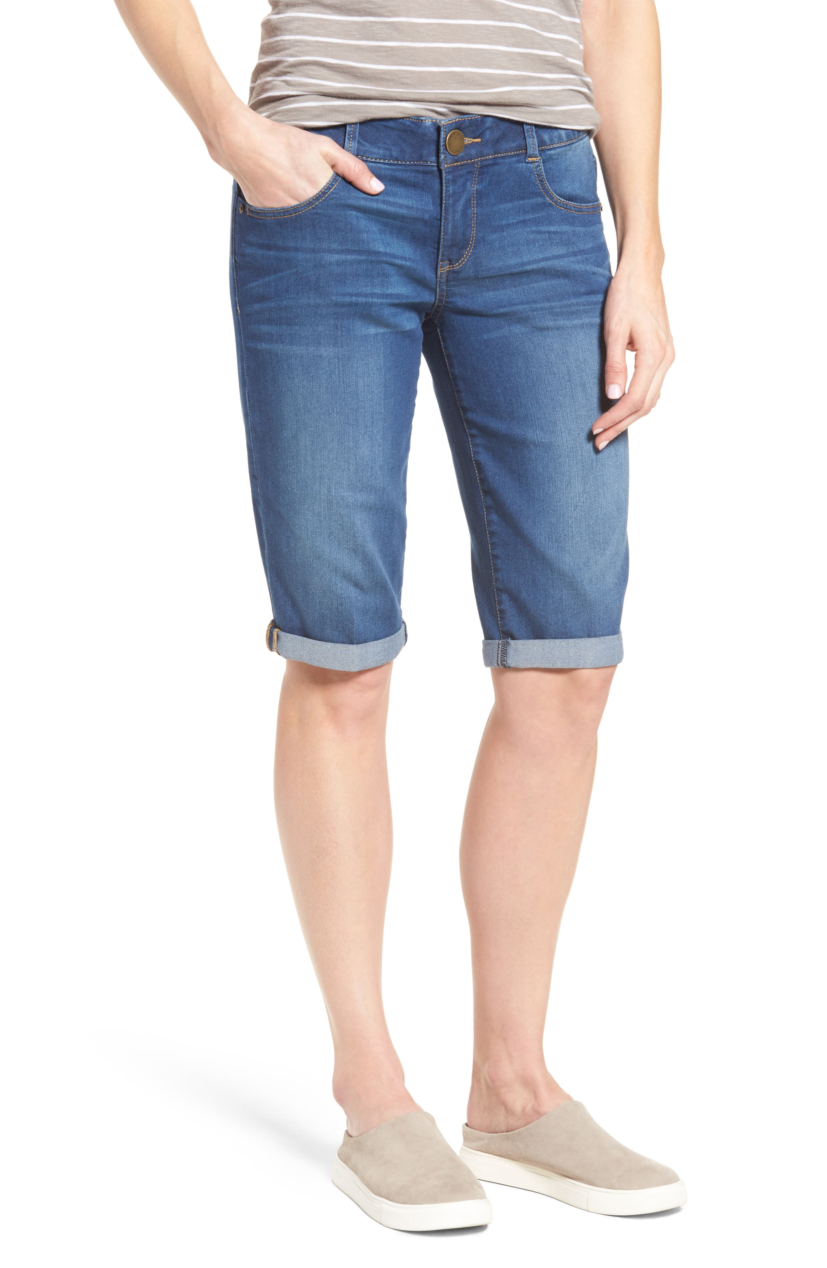 Main Image - Wit & Wisdom Ab-solution Denim Bermuda Shorts (Nordstrom Exclusive)