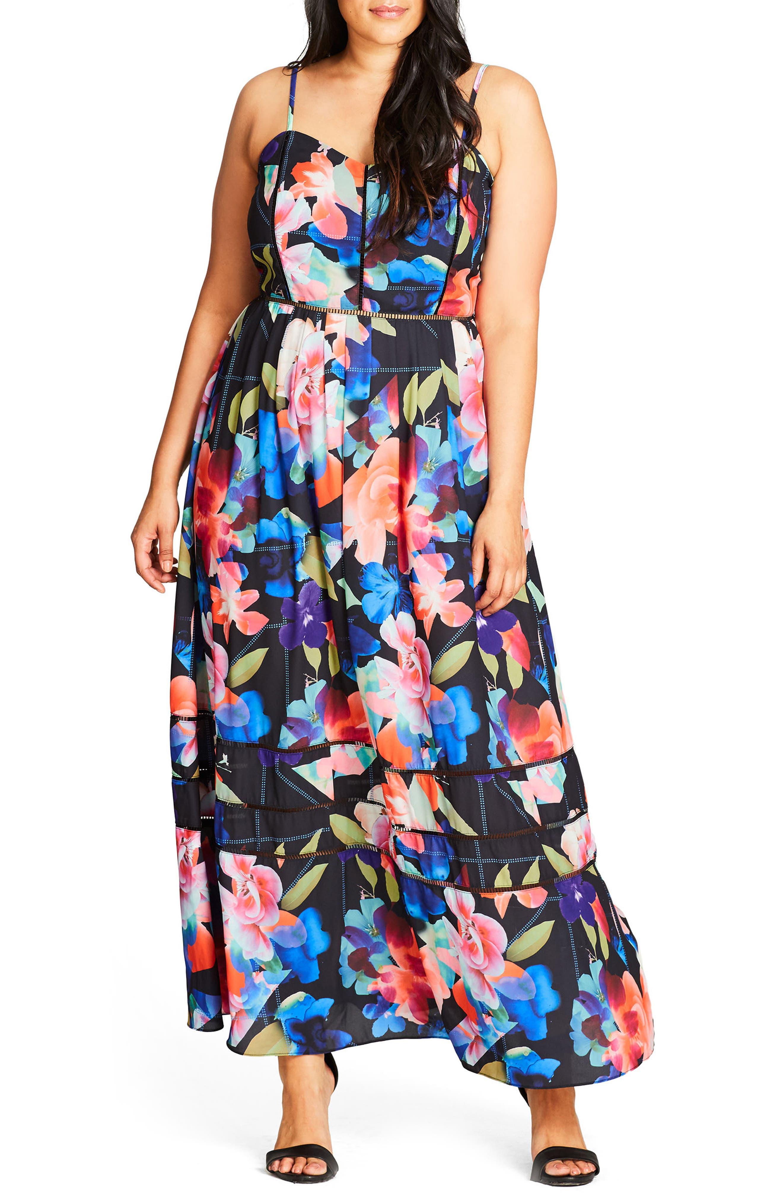 Alternate Image 1 Selected - City Chic Maxi Dress (Plus Size)