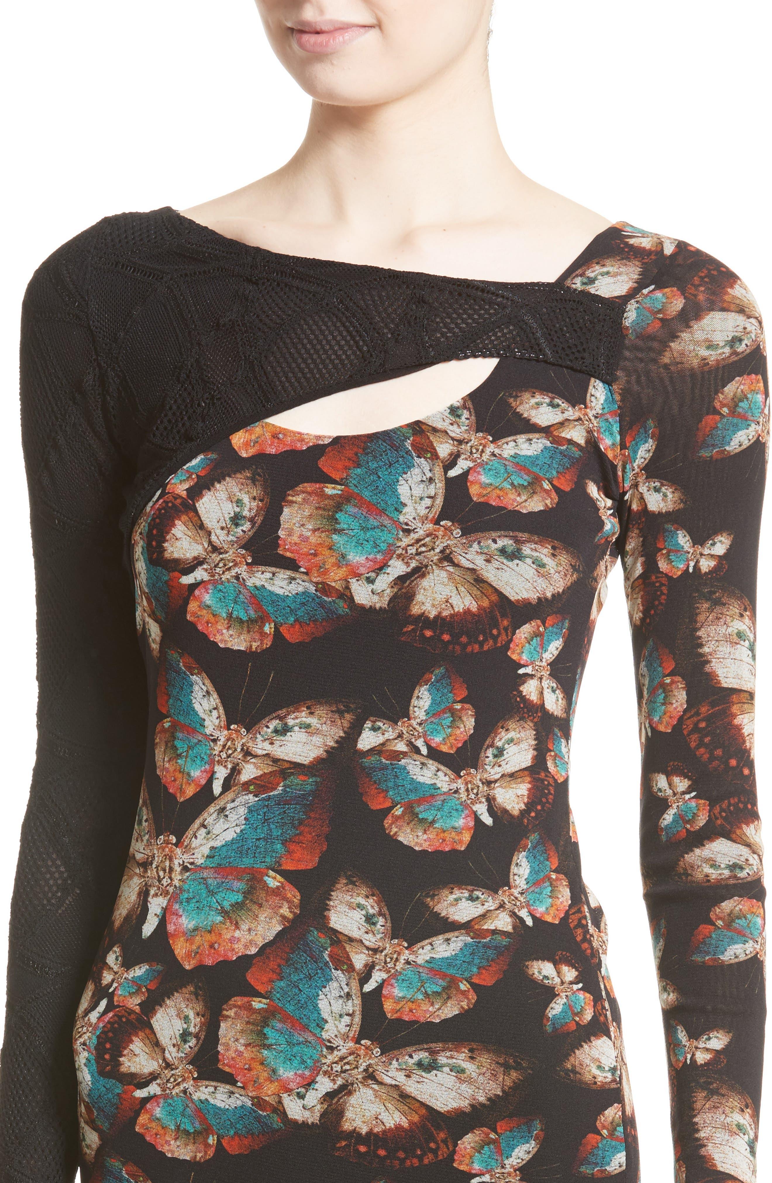 Tulle Sheath Dress,                             Alternate thumbnail 7, color,                             Nero