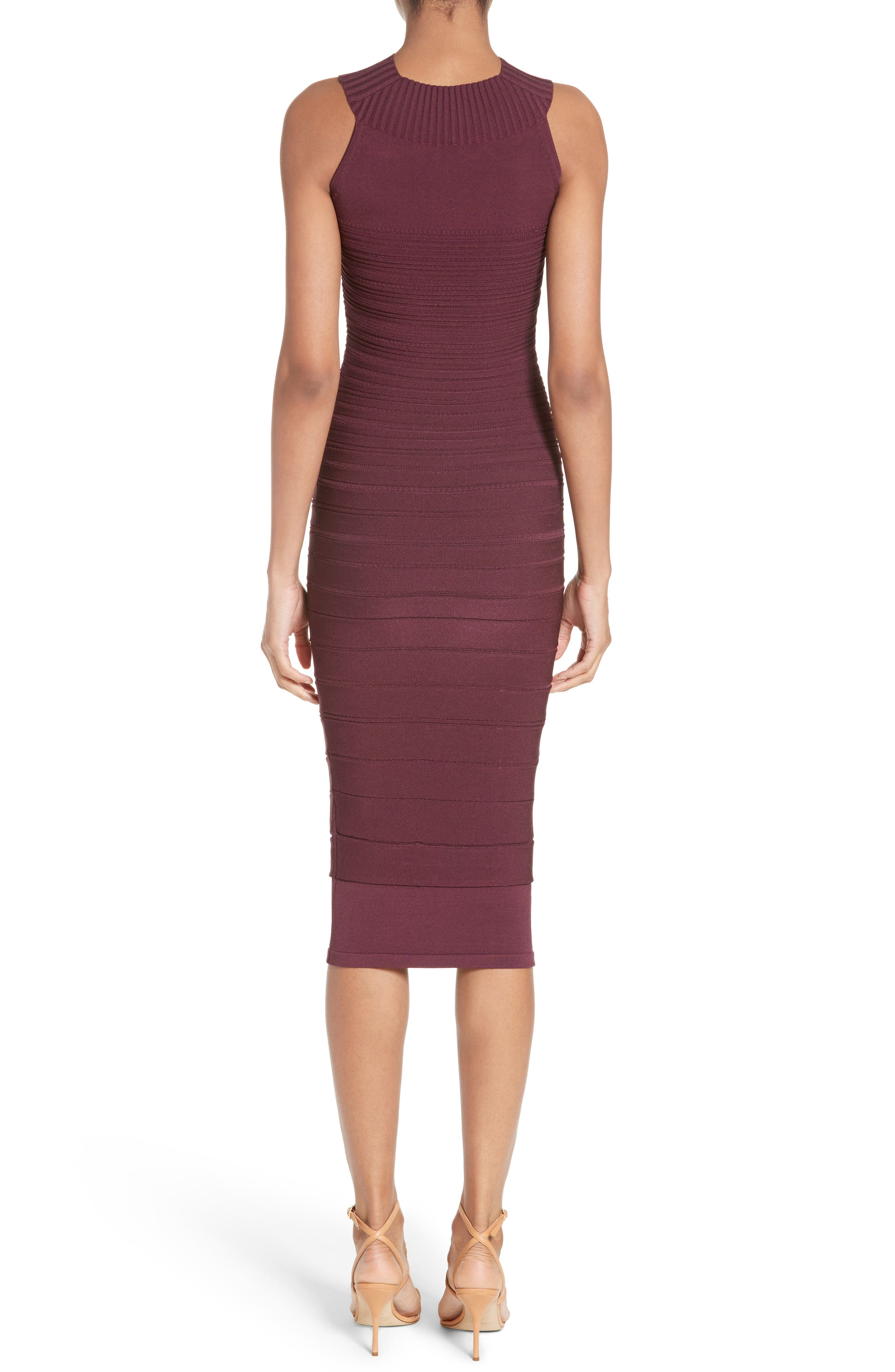 Knit High Neck Dress,                             Alternate thumbnail 2, color,                             Currant