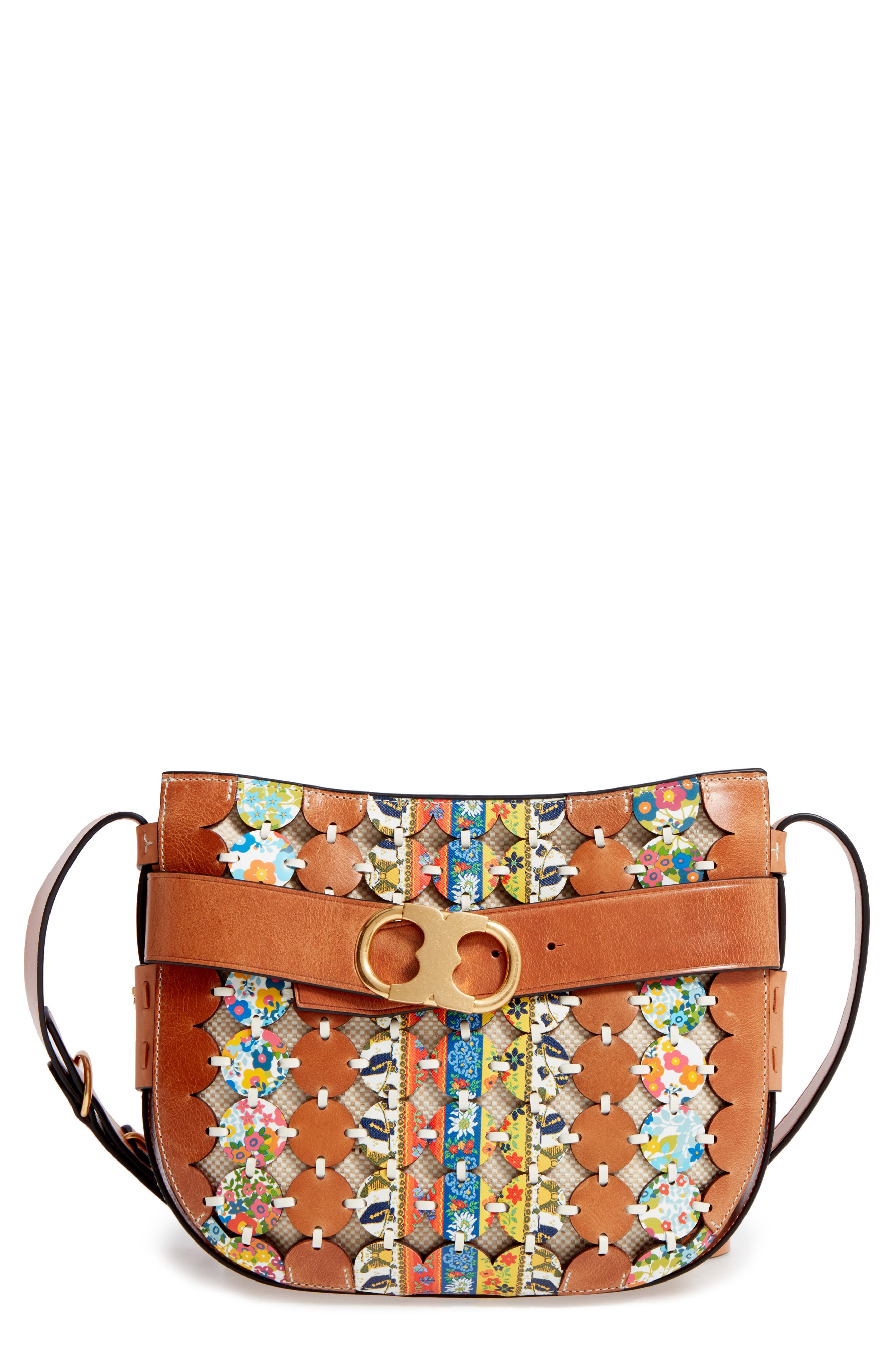 Main Image - Tory Burch Gemini Link Belted Leather Crossbody Bag