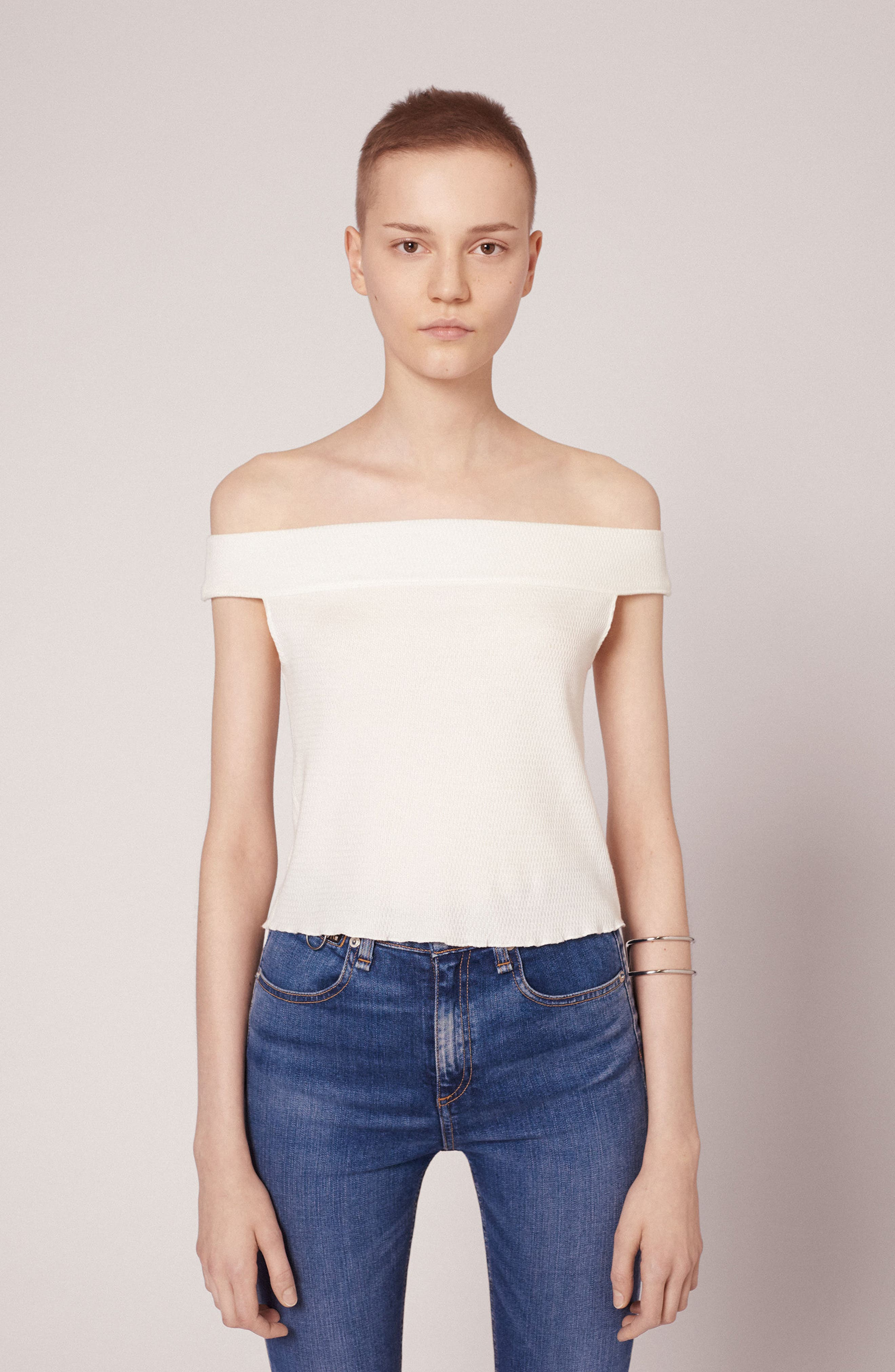 Alternate Image 6  - rag & bone/JEAN Thermal Off the Shoulder Top