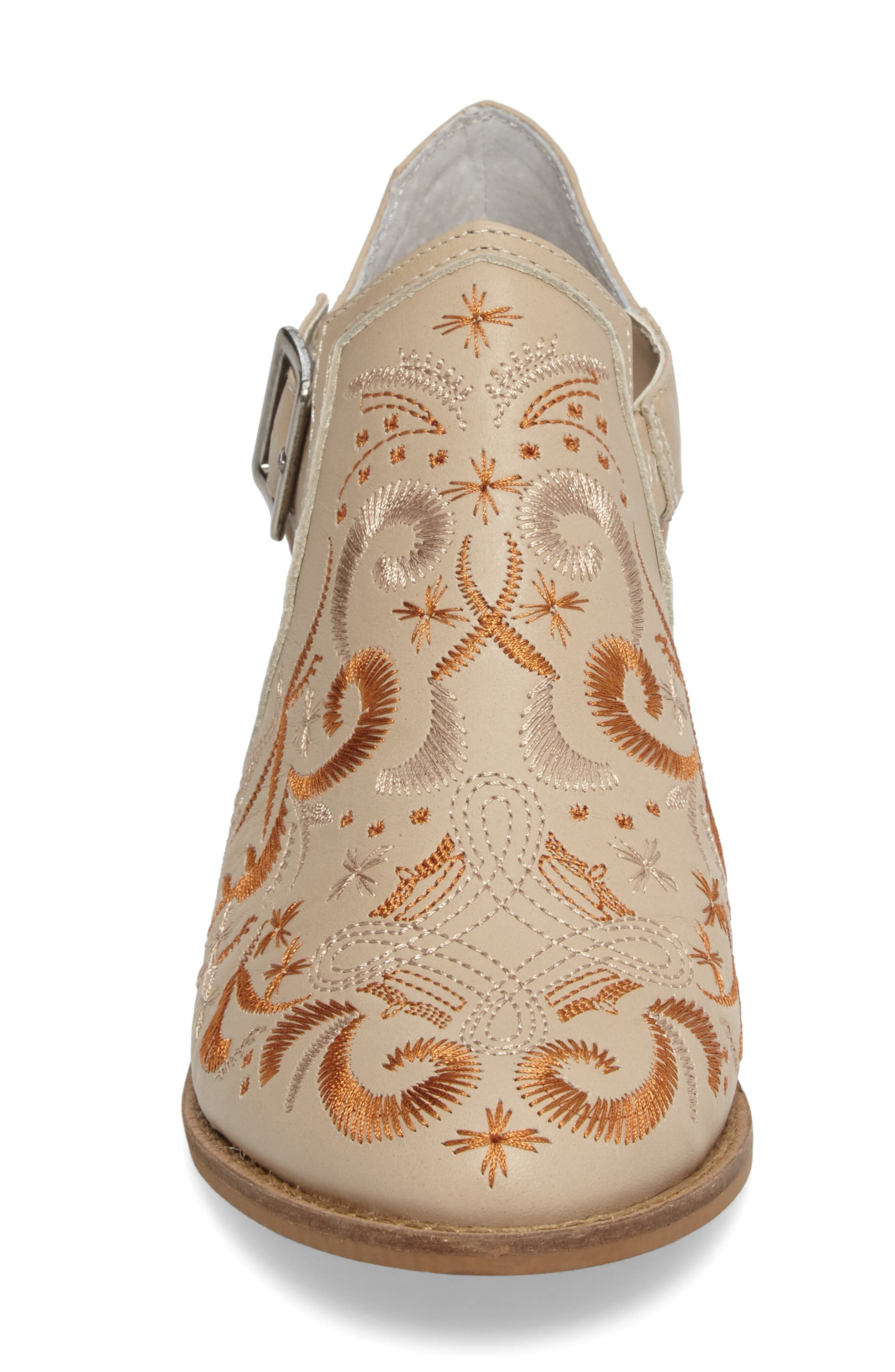 Kline Embroidered Bootie,                             Alternate thumbnail 4, color,                             Wheat Leather