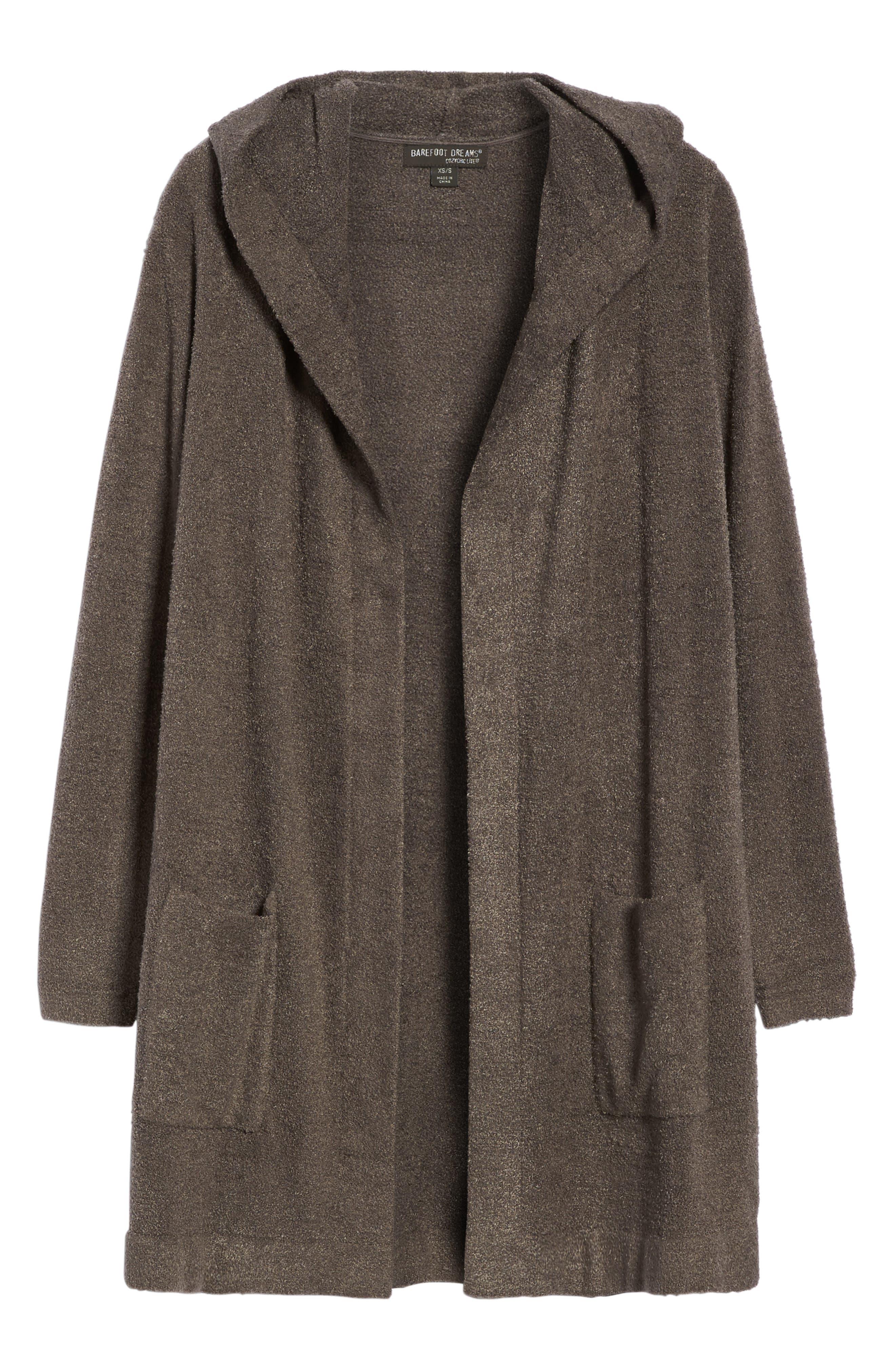 Alternate Image 4  - Barefoot Dreams® Cozychic Lite® Coastal Hooded Cardigan