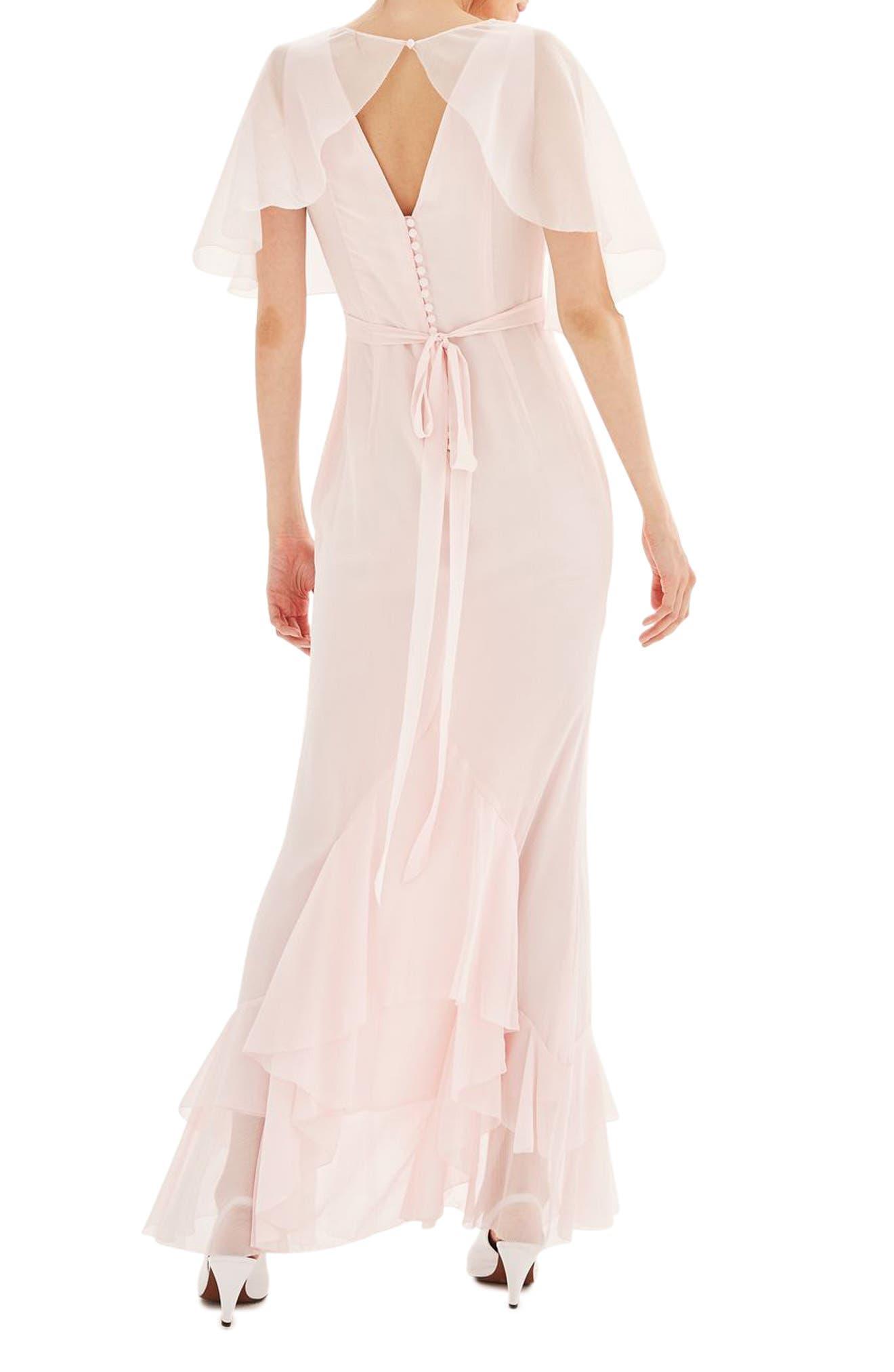 Alternate Image 3  - Topshop Bride Cascade Gown