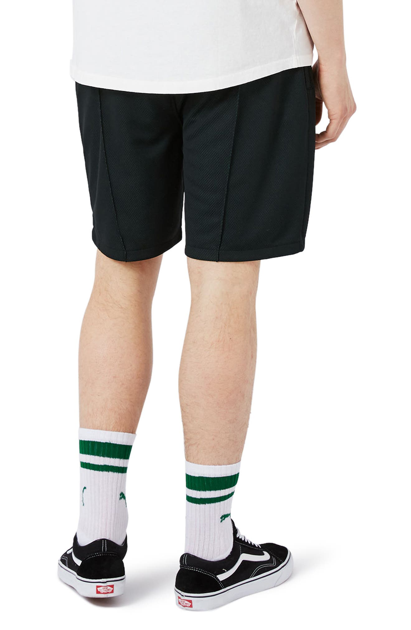 Alternate Image 3  - Topman Two Tone Mesh Jersey Shorts