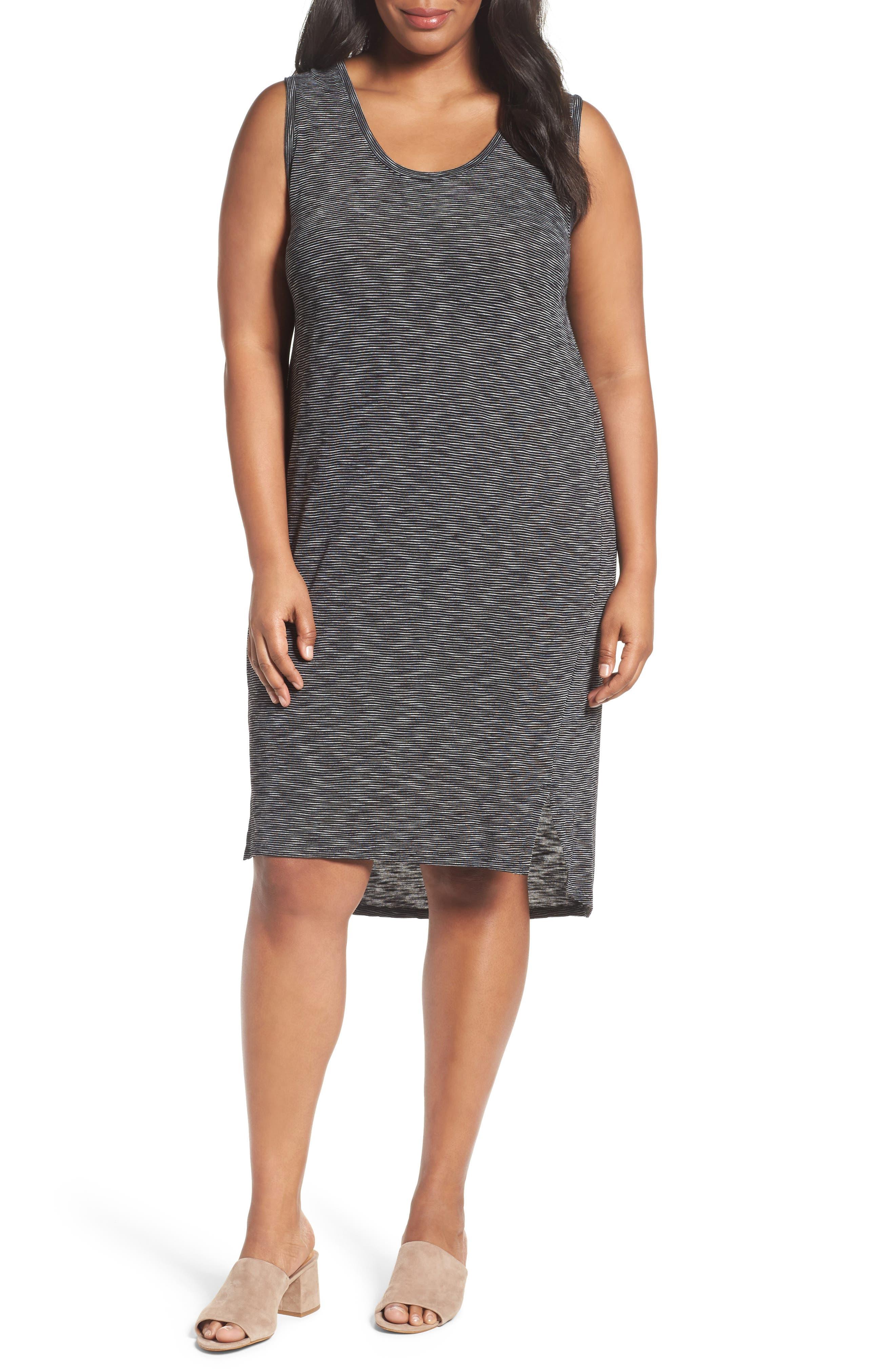 Caslon® Shirttail Tank Dress (Plus Size)