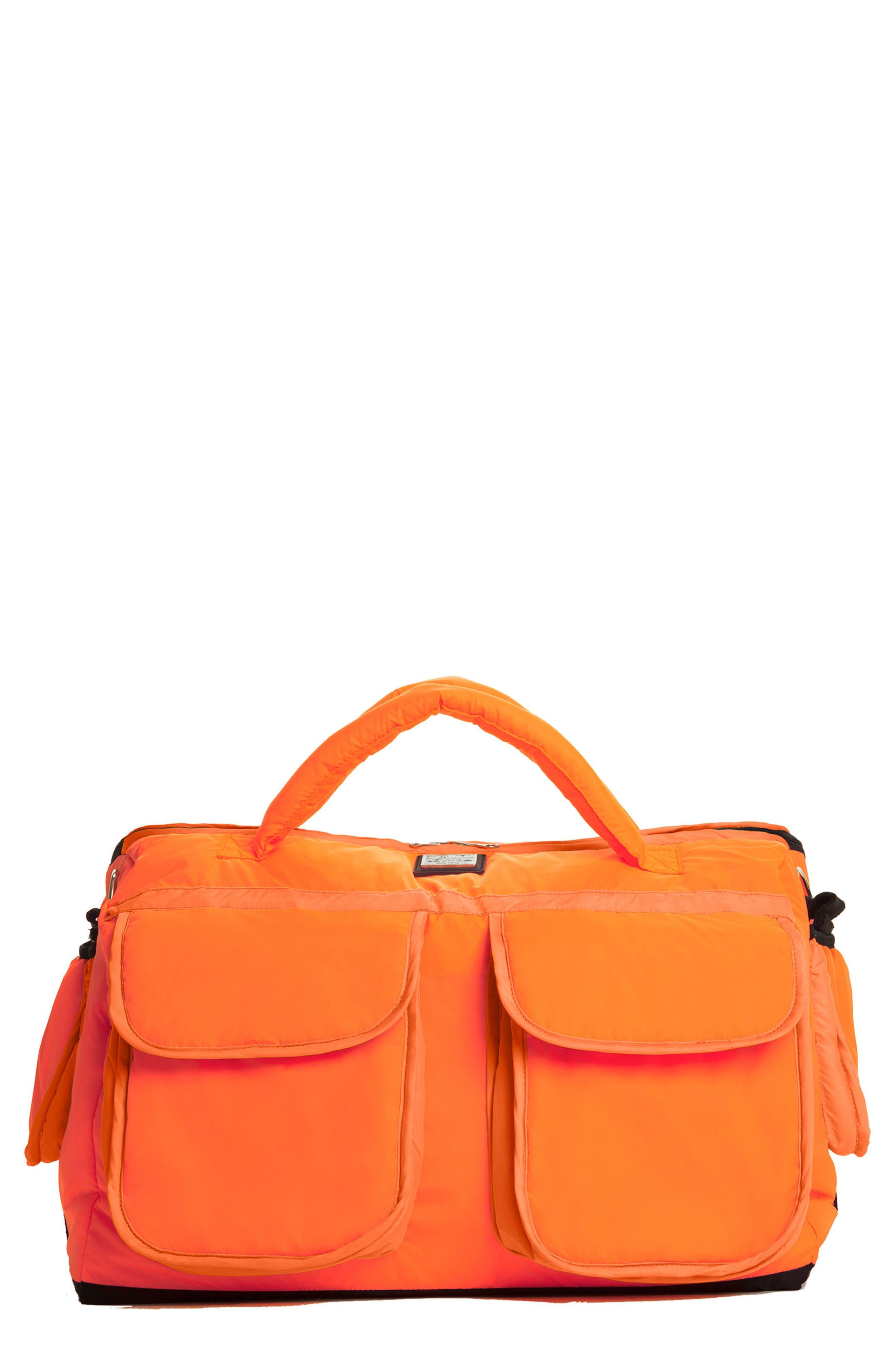 'Voyage' Diaper Bag,                         Main,                         color, Neon Orange