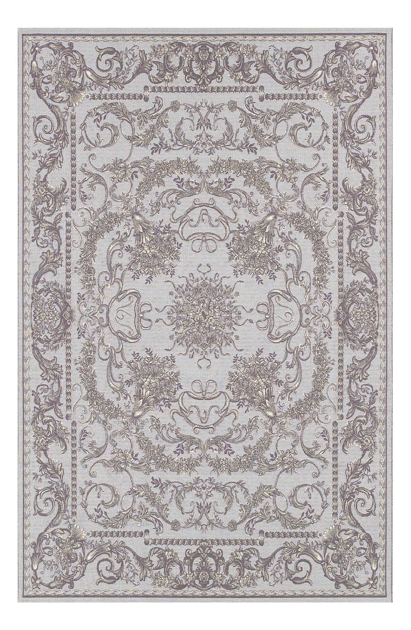 Messina Indoor/Outdoor Rug,                             Main thumbnail 1, color,                             Sky Blue/ Grey