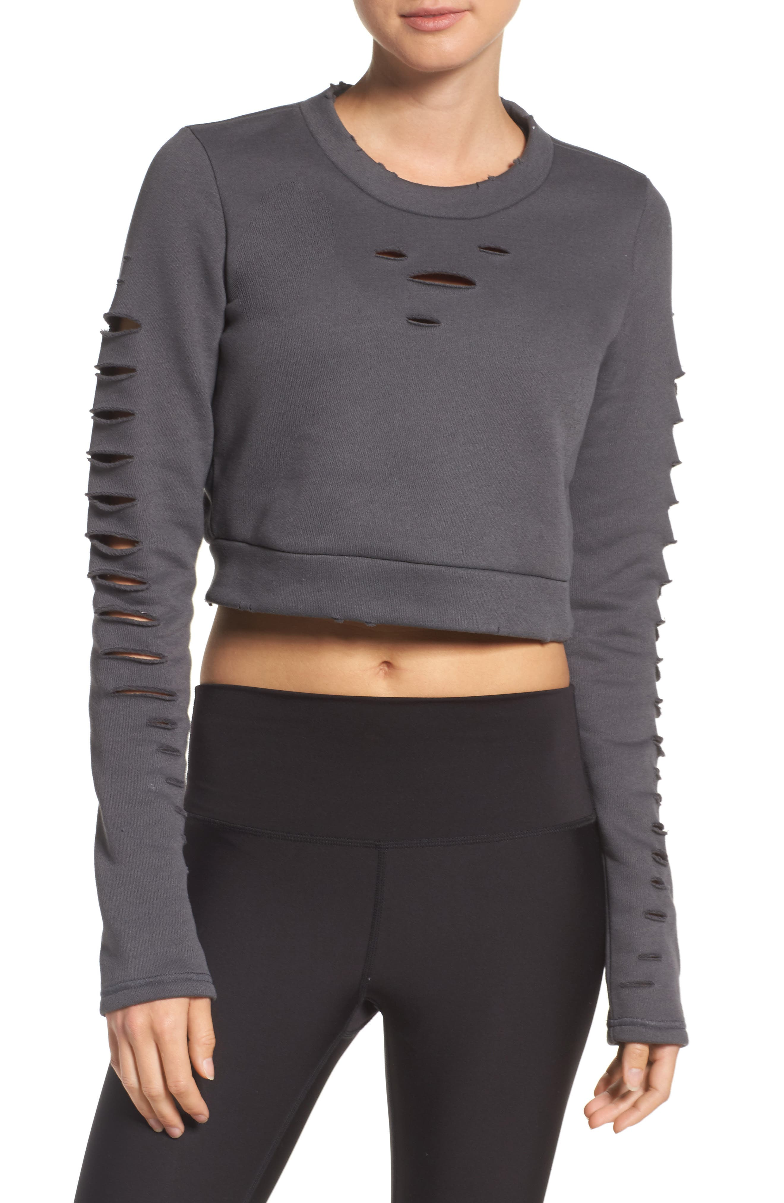 Main Image - Alo Ripped Warrior Crop Top