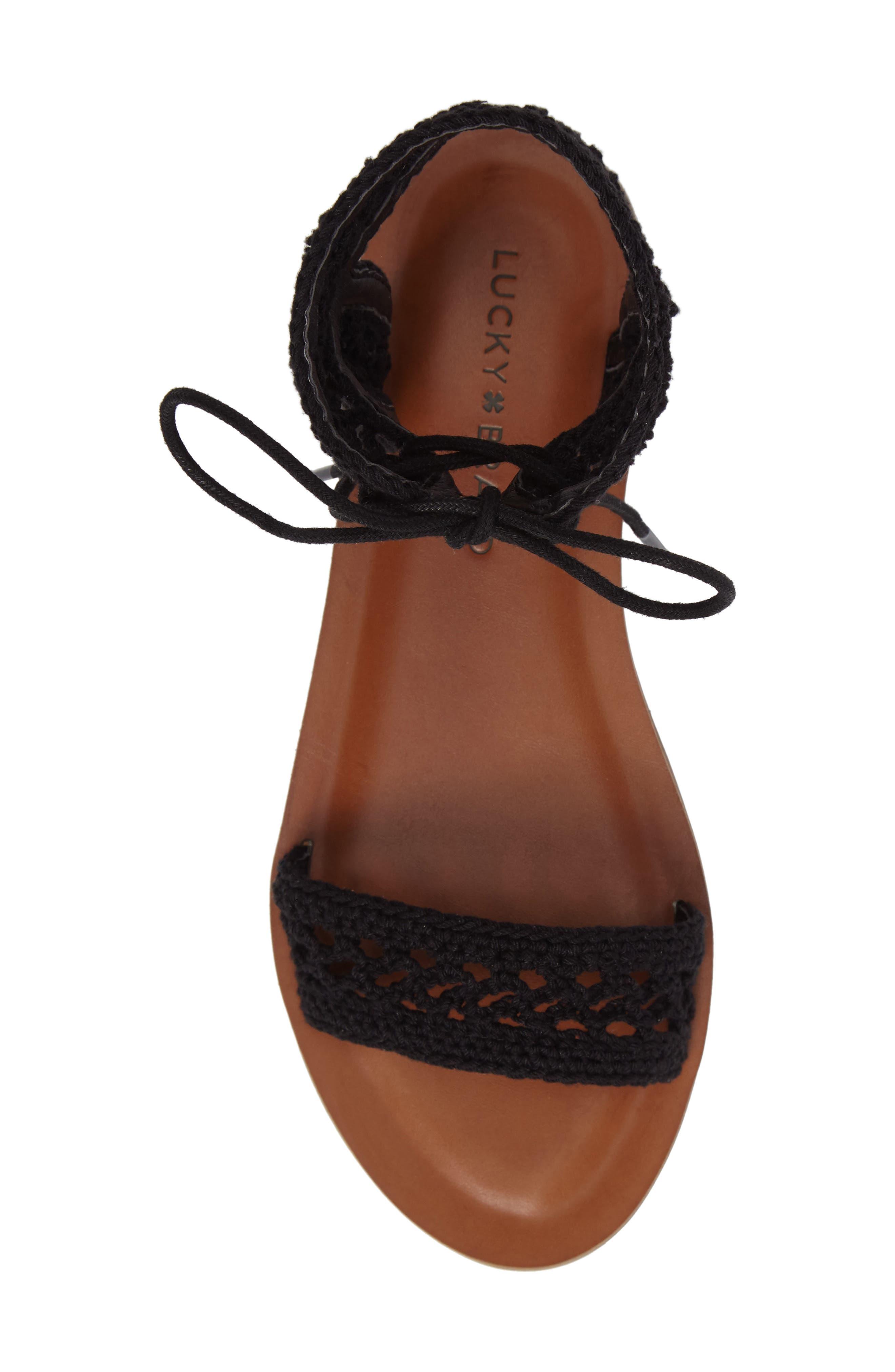 Alternate Image 5  - Lucky Brand Ariah Ankle Tie Sandal (Women)