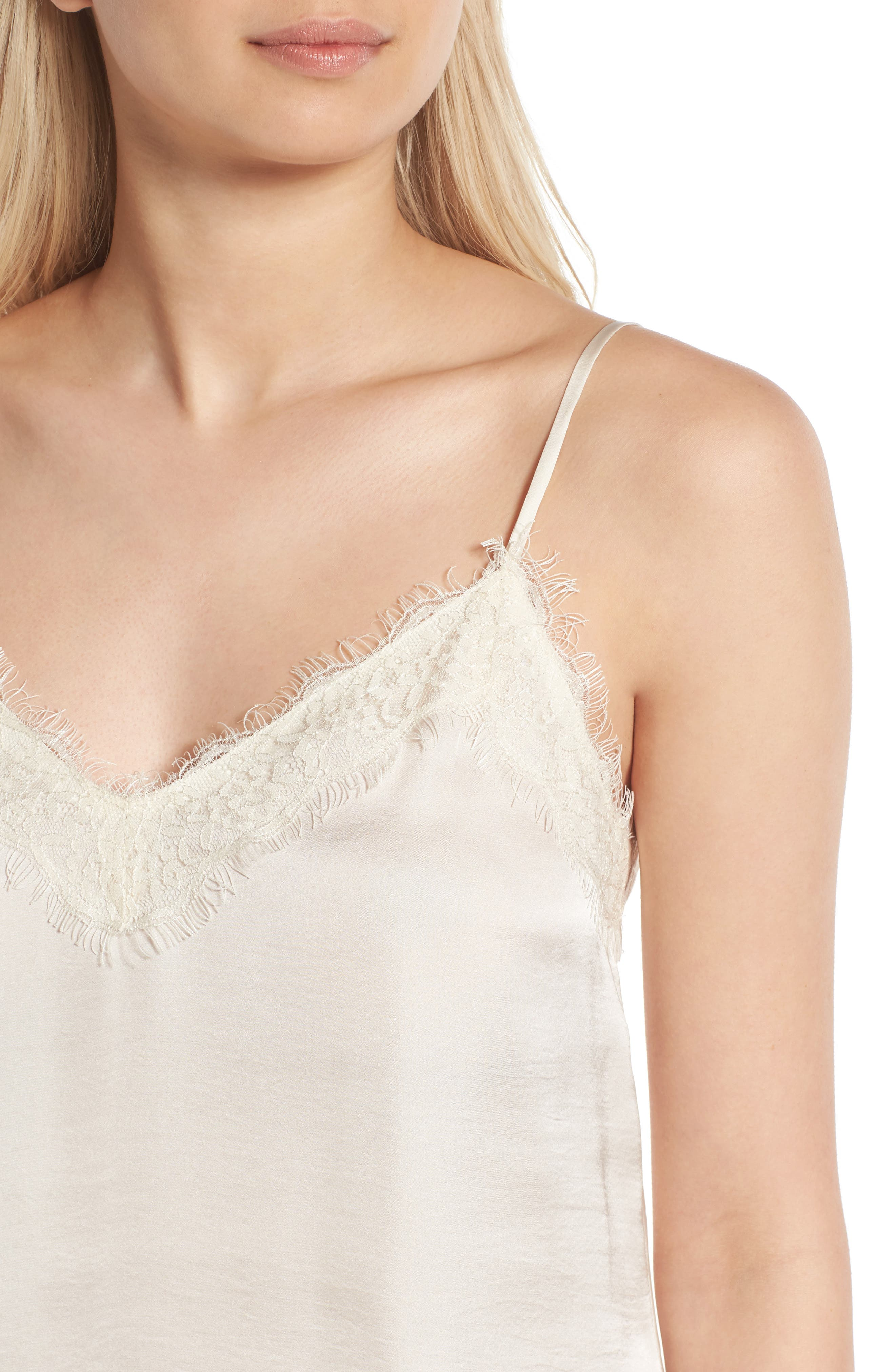 Alternate Image 4  - BP. Lace Trim Satin Camisole