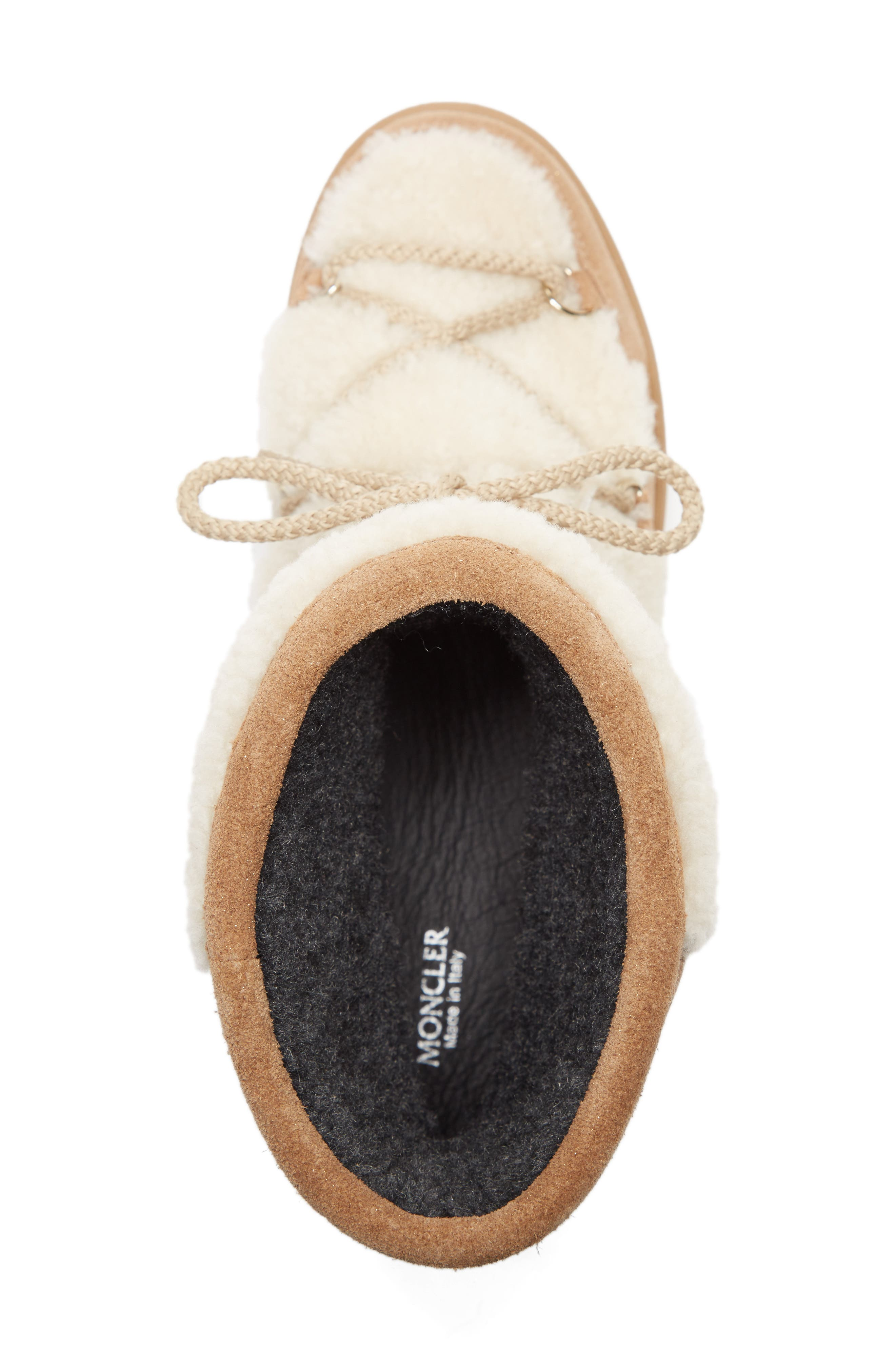 Alternate Image 5  - Moncler New Fanny Stivale Genuine Shearling Short Moon Boots (Women)