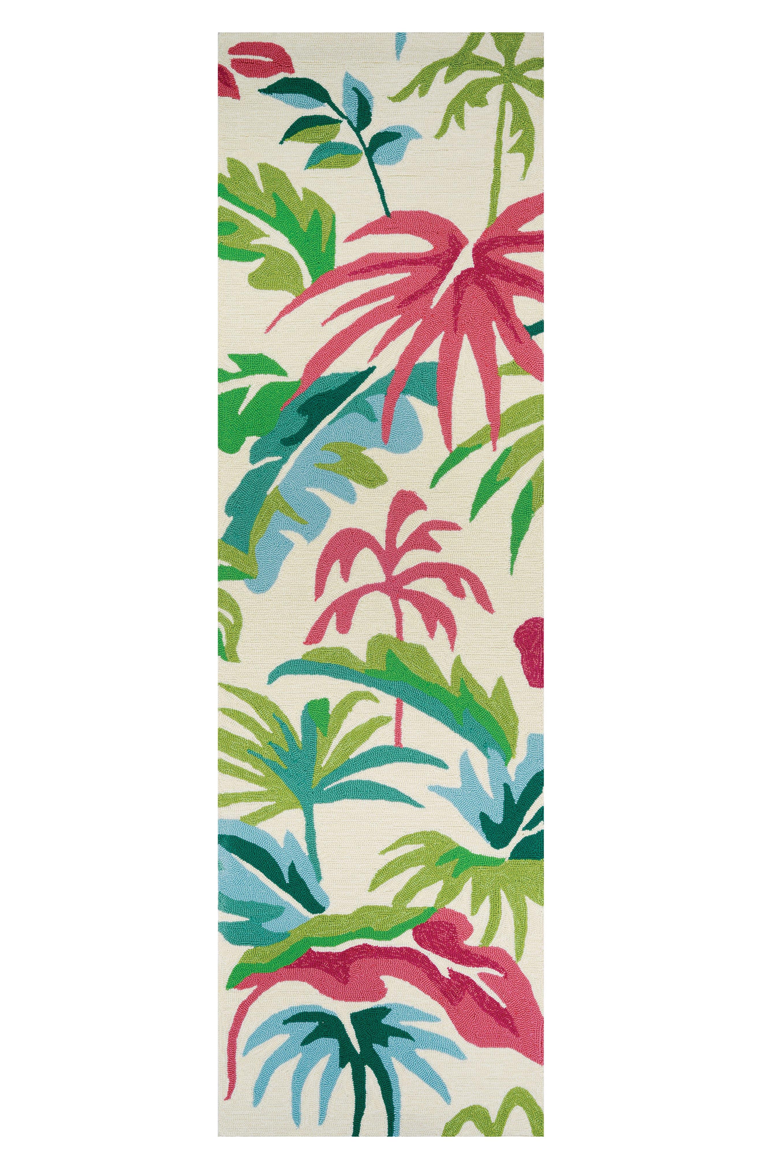 Fiji Indoor/Outdoor Rug,                             Alternate thumbnail 2, color,                             Pink/ Green/ Multi