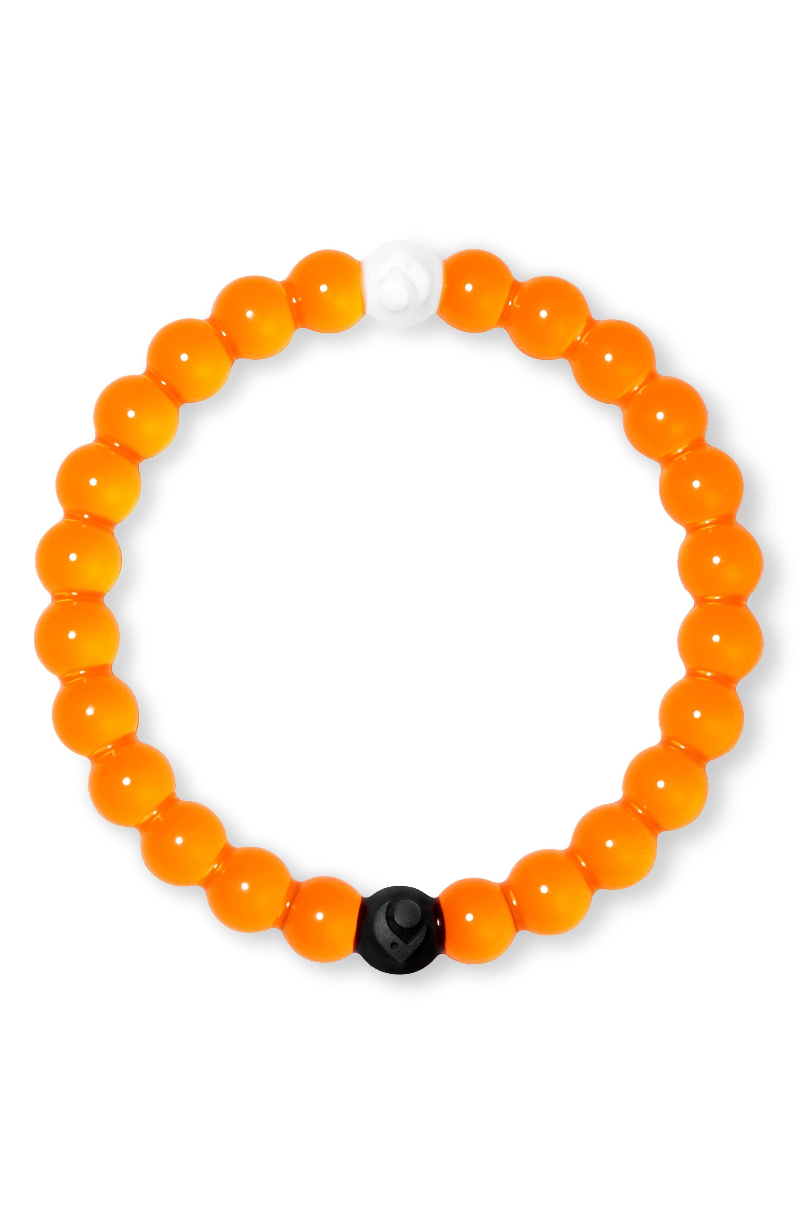 Mental Health Awareness Orange Bracelet,                             Main thumbnail 1, color,                             Orange
