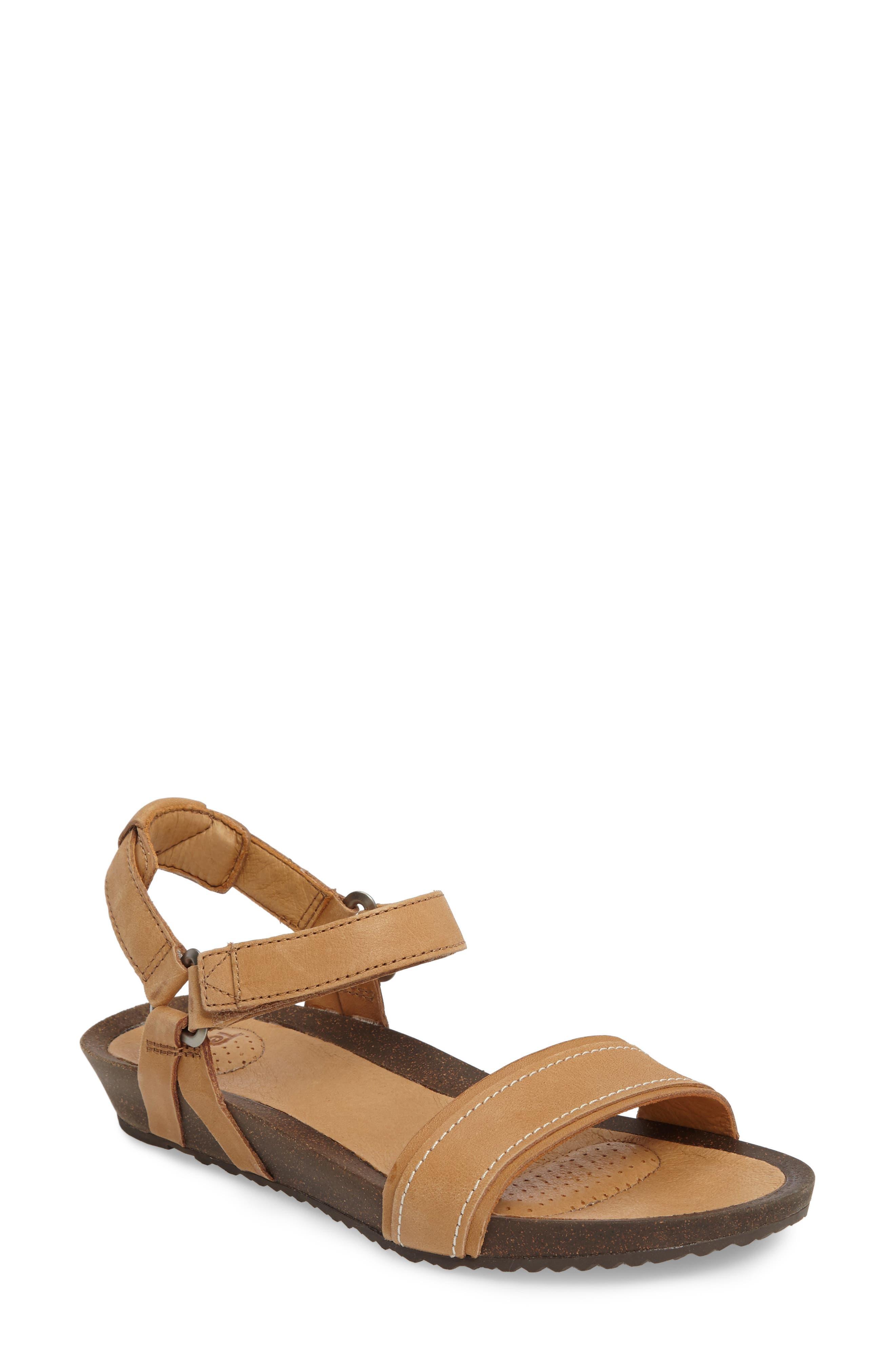 Ysidro Stitch Sandal,                             Main thumbnail 1, color,                             Tan Leather