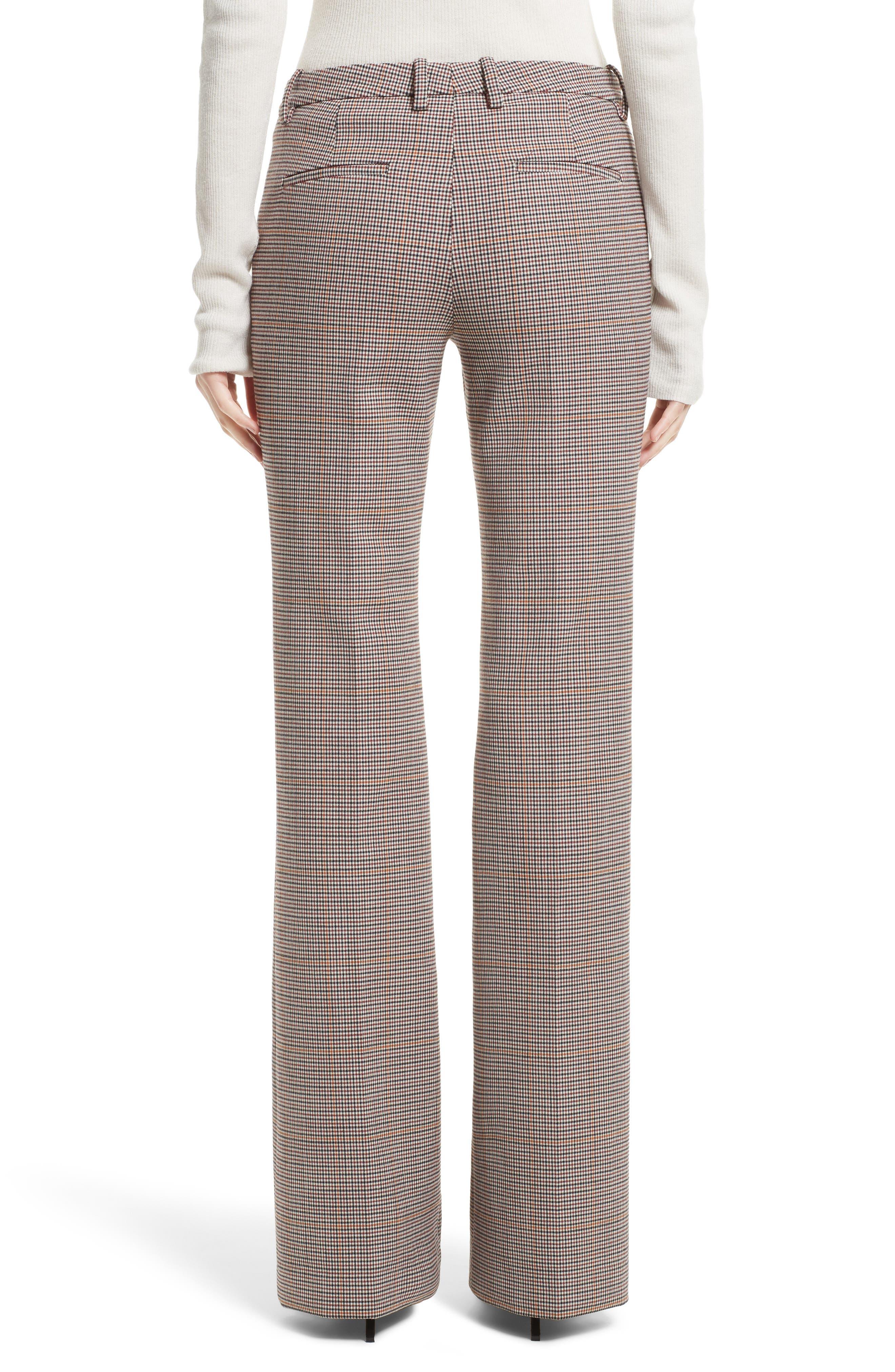 Demitria 2 Flare Leg Stretch Wool Pants,                             Alternate thumbnail 2, color,                             Multi