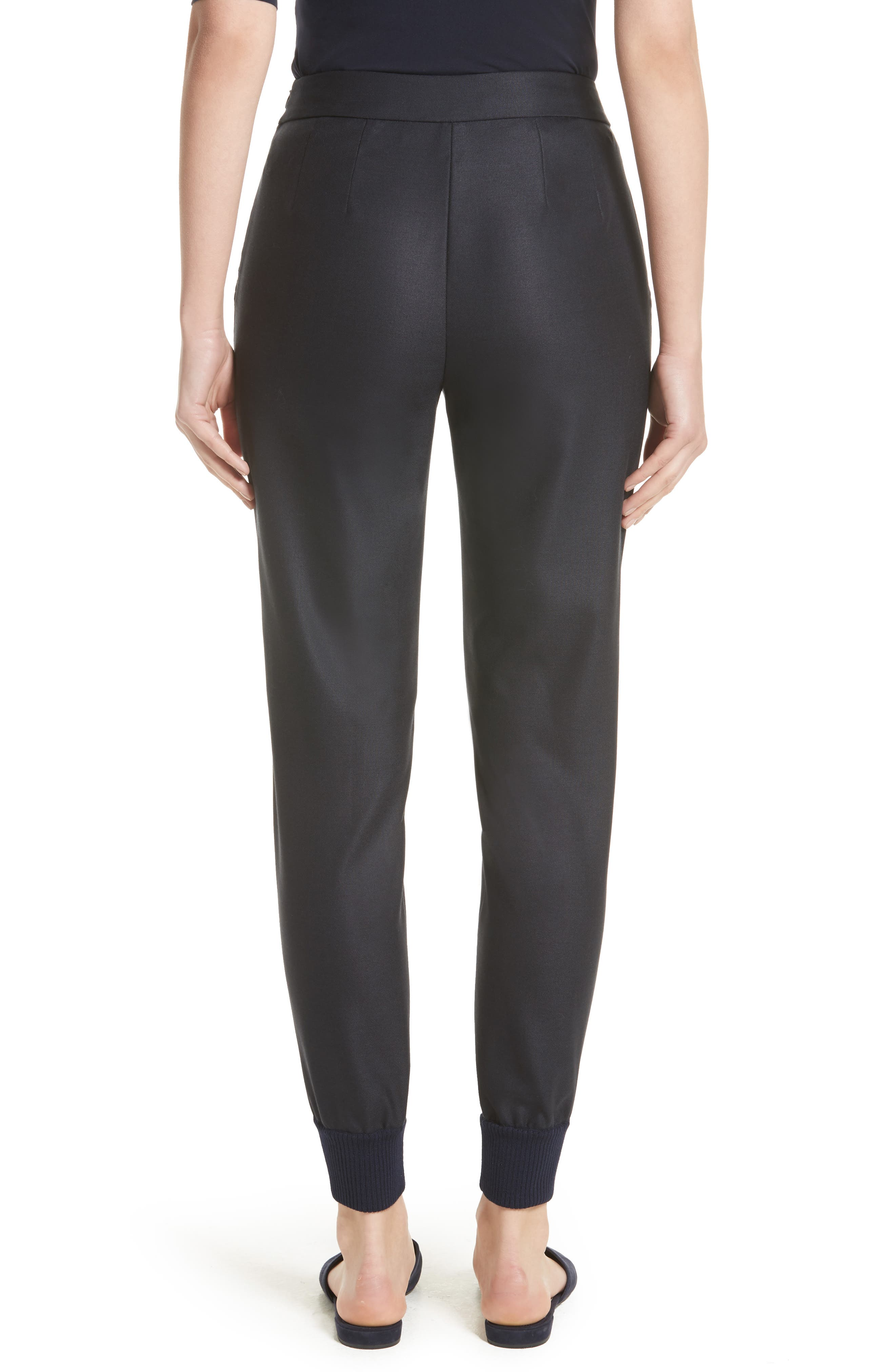 Alternate Image 2  - St. John Collection Stretch Birdseye Skinny Pants