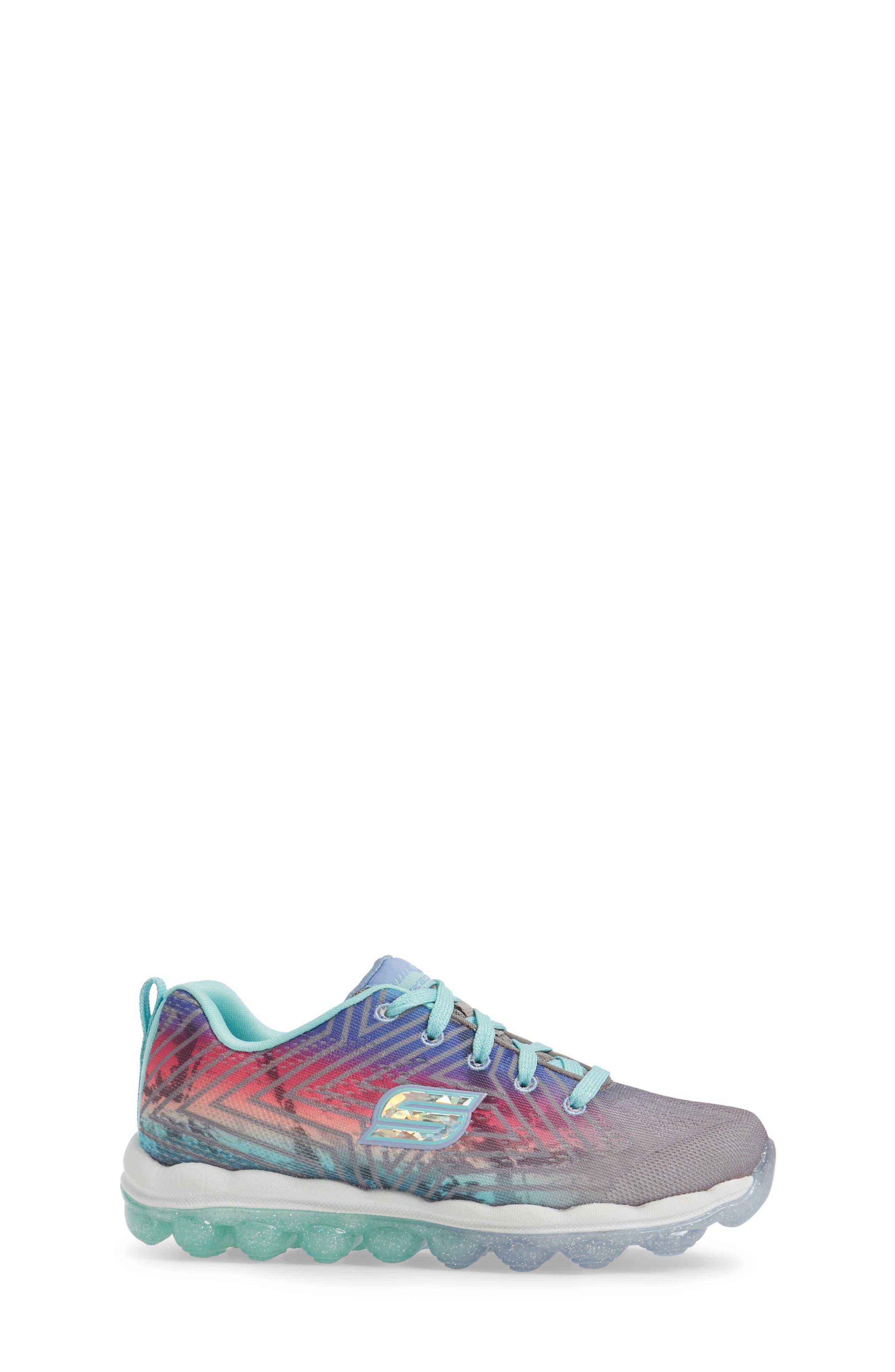 Skech-Air Jump Around Sneaker,                             Alternate thumbnail 3, color,                             Grey/ Multi