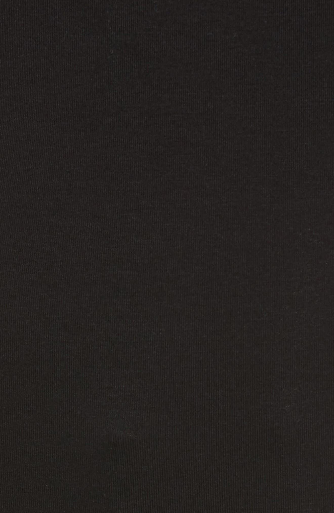 Asymmetrical Neck Top,                             Alternate thumbnail 5, color,                             Black