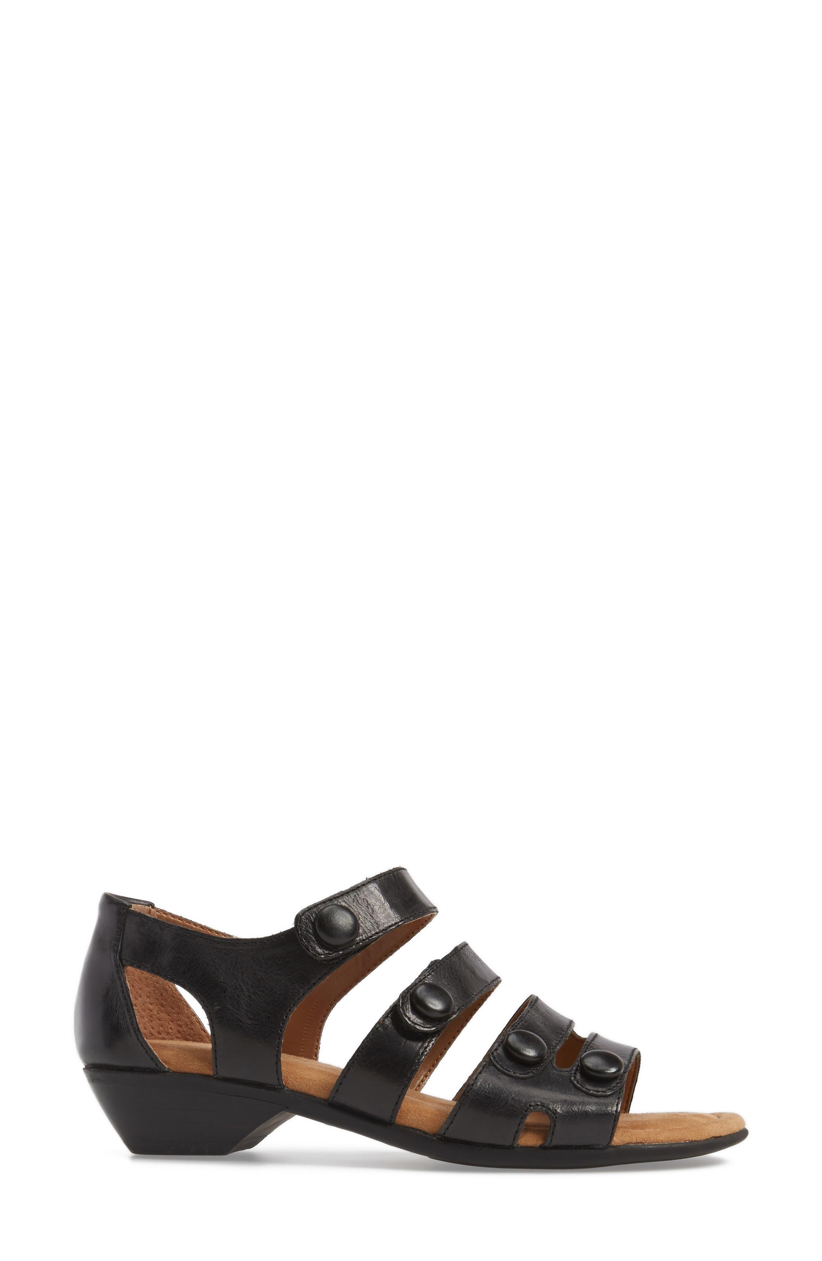 Reading Sandal,                             Alternate thumbnail 4, color,                             Black Leather