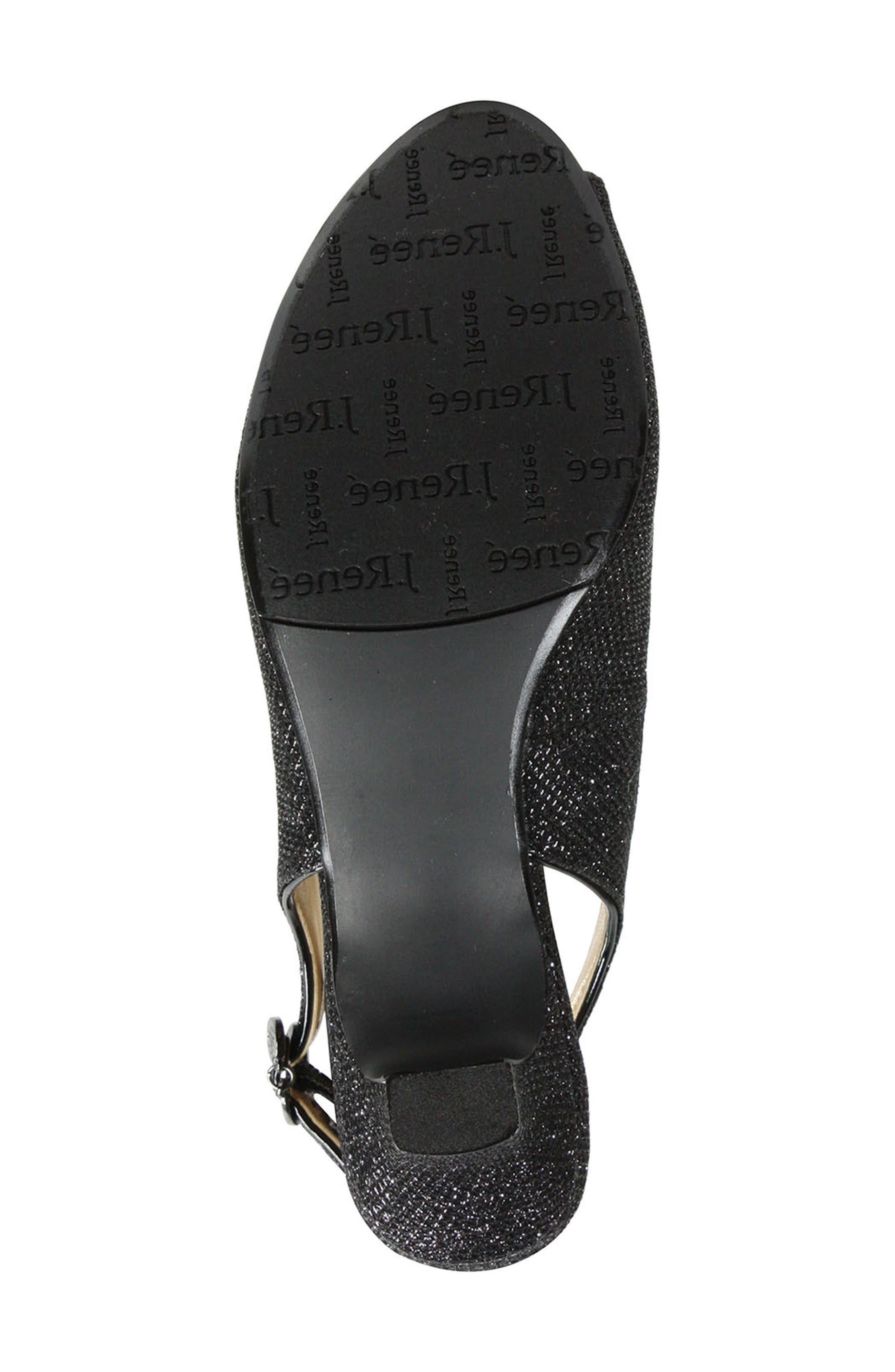 Jenvey Slingback Sandal,                             Alternate thumbnail 5, color,                             Black Fabric