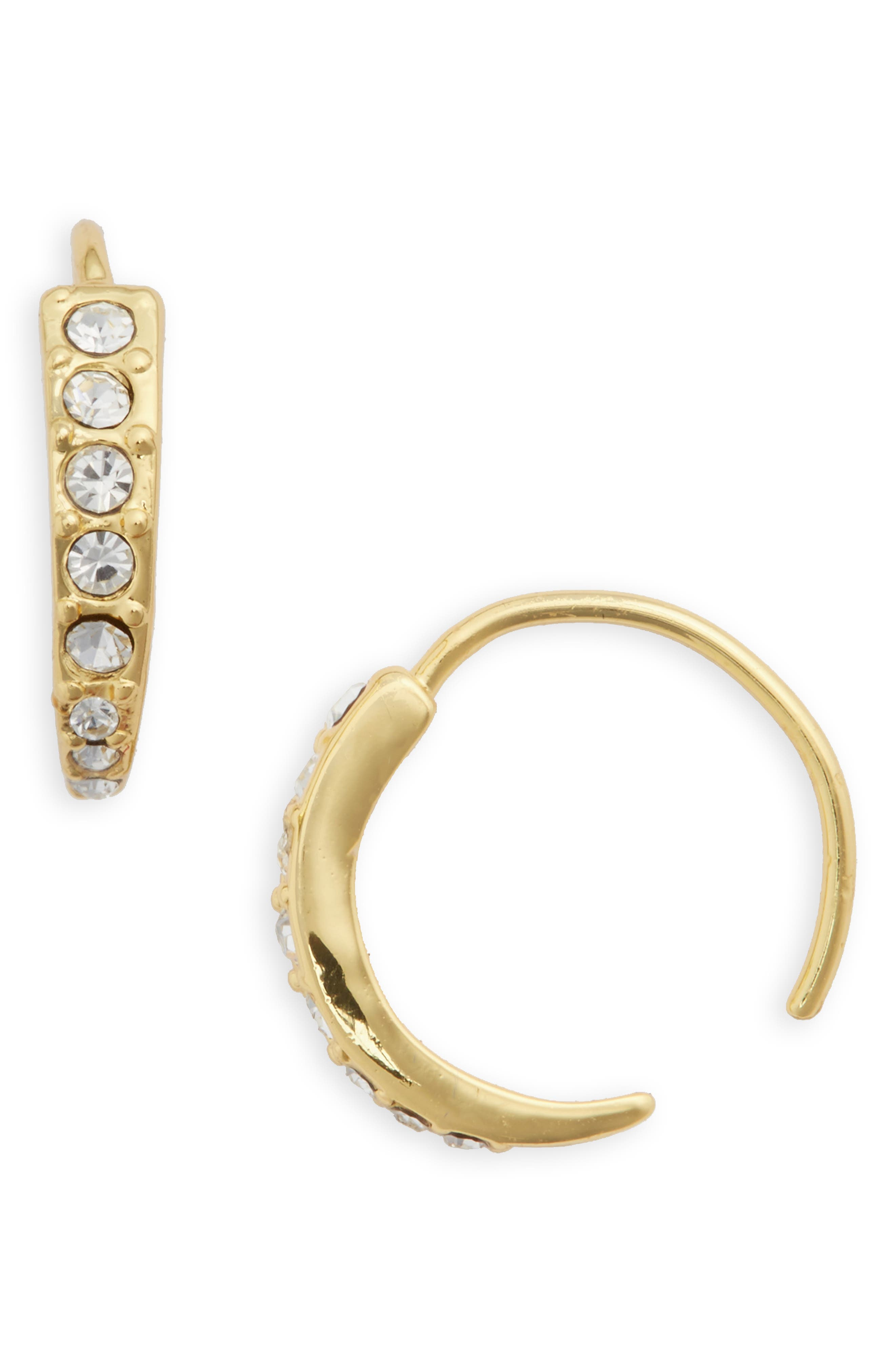 Alternate Image 1 Selected - Luv AJ Pavé Hoop Earrings