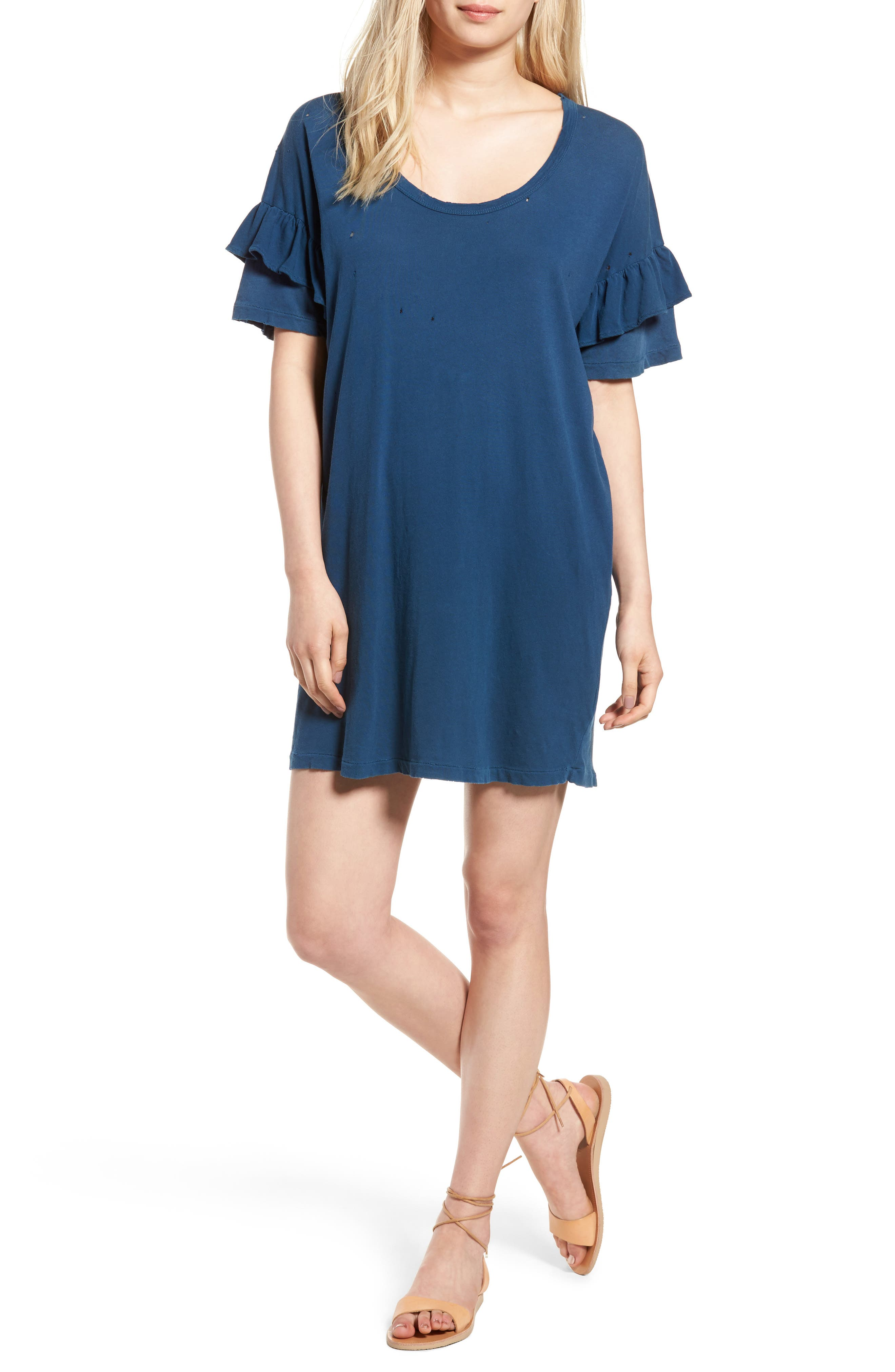 Current/Elliott The Ruffle Roadie T-Shirt Dress