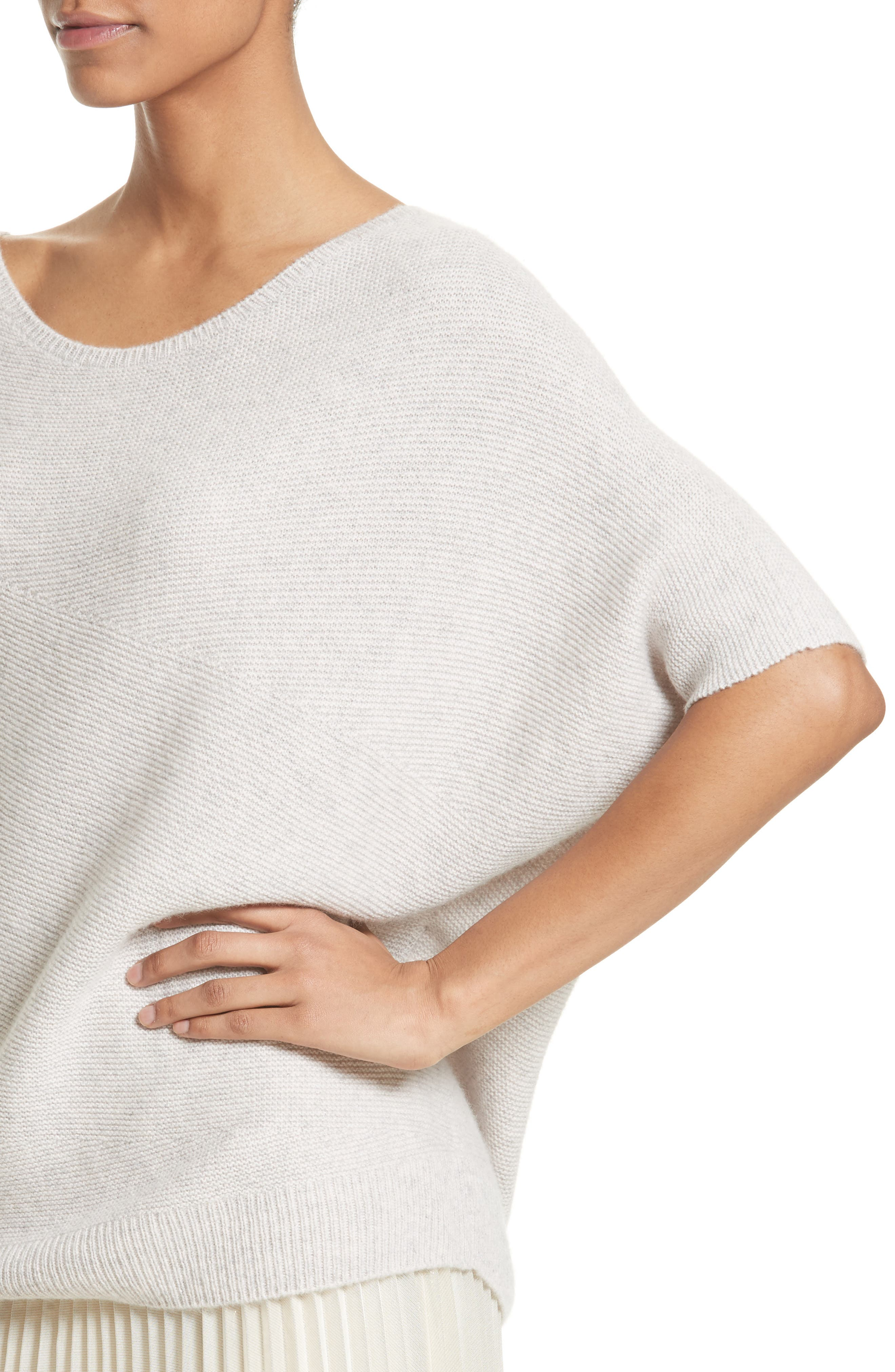 Alternate Image 4  - St. John Collection Cashmere Asymmetrical Sweater