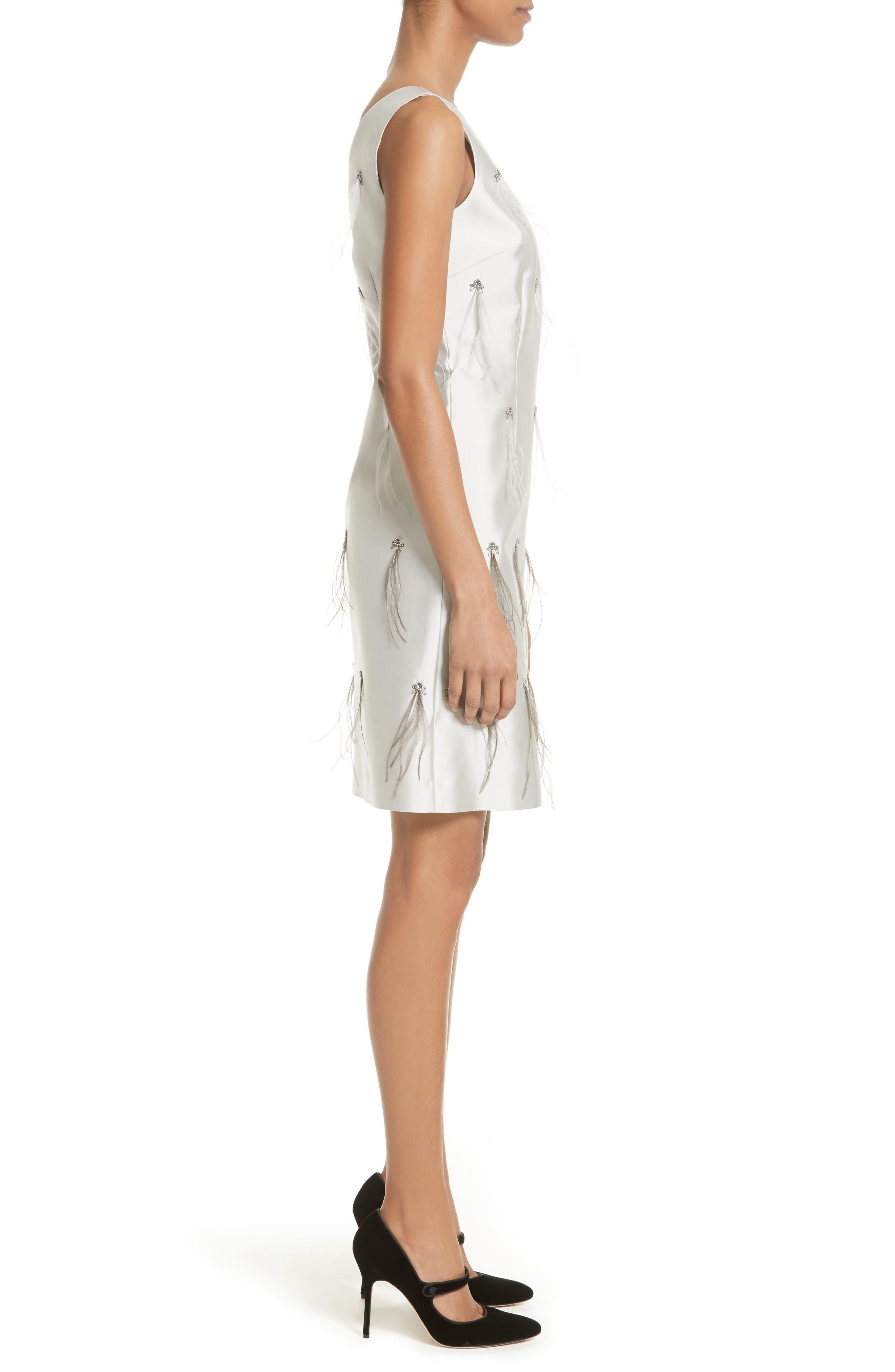 Alternate Image 3  - St. John Collection Mikado Embellished A-Line Dress