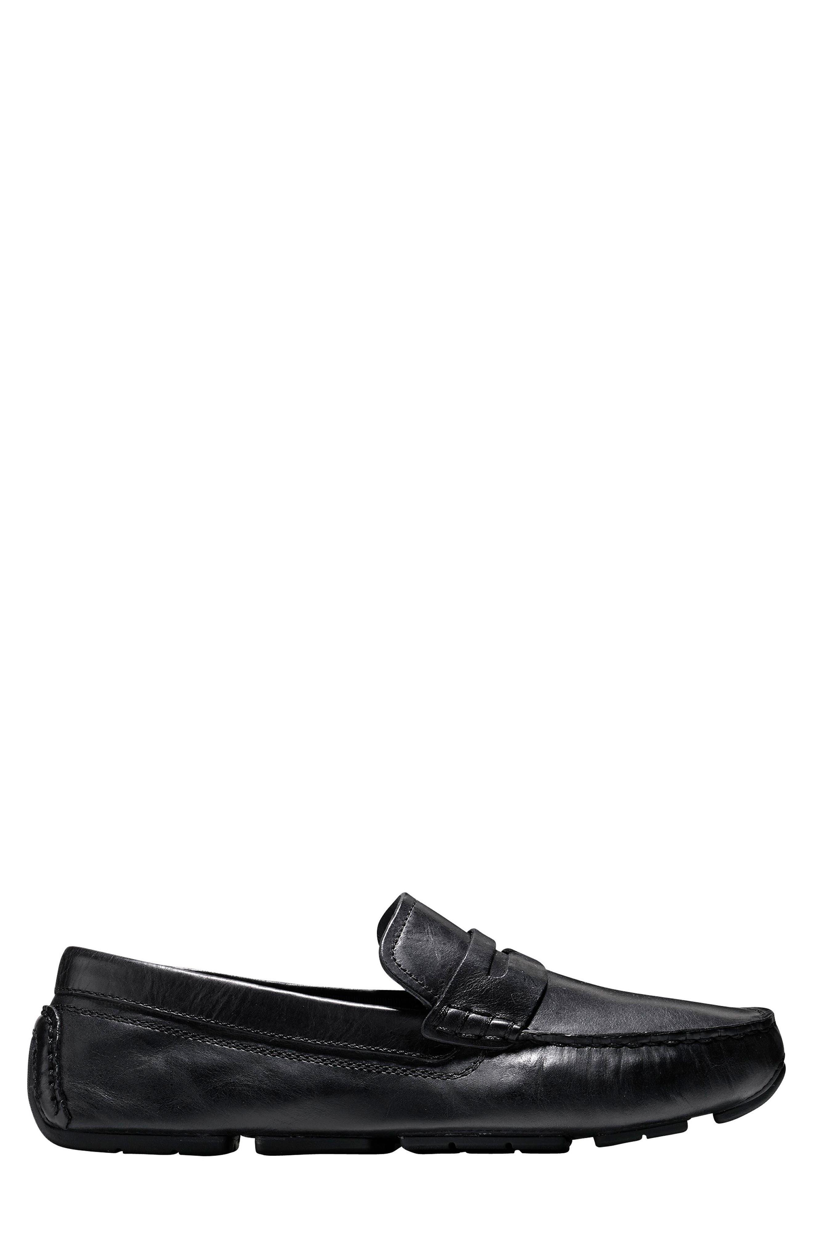 Kelson Driving Shoe,                             Alternate thumbnail 3, color,                             Black