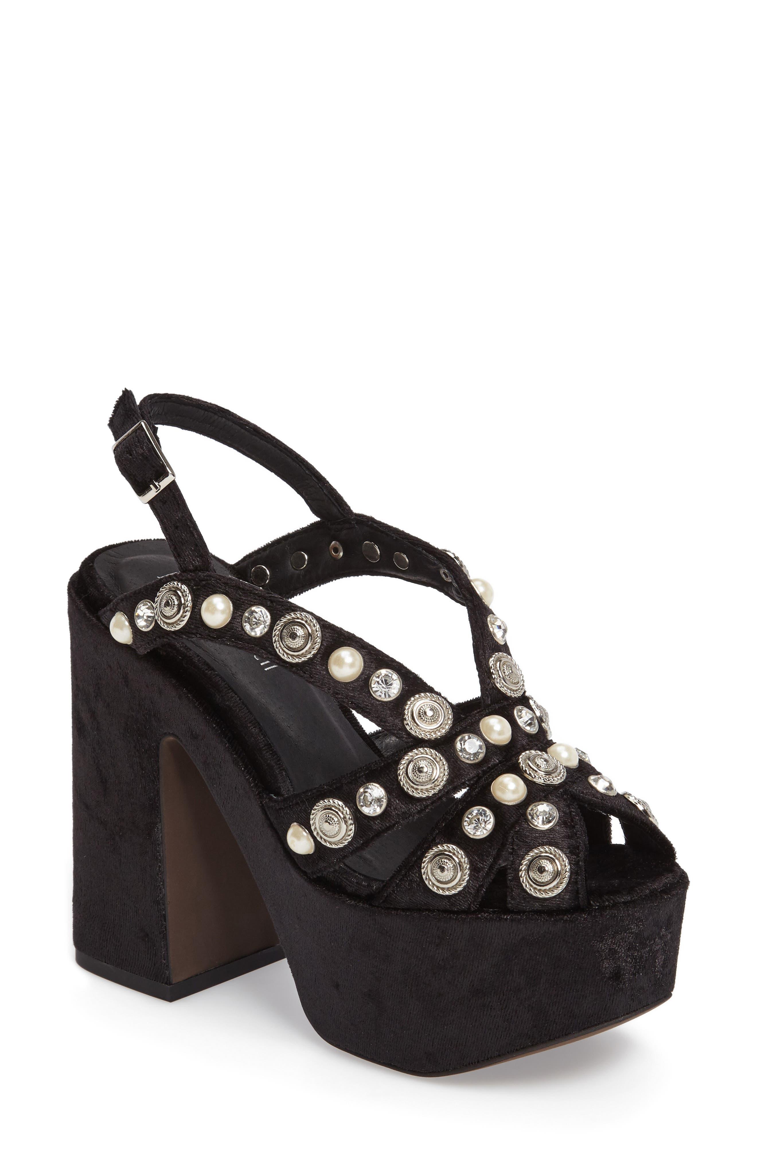 Alternate Image 1 Selected - Jeffrey Campbell Briston Embellished Platform Sandal (Women)