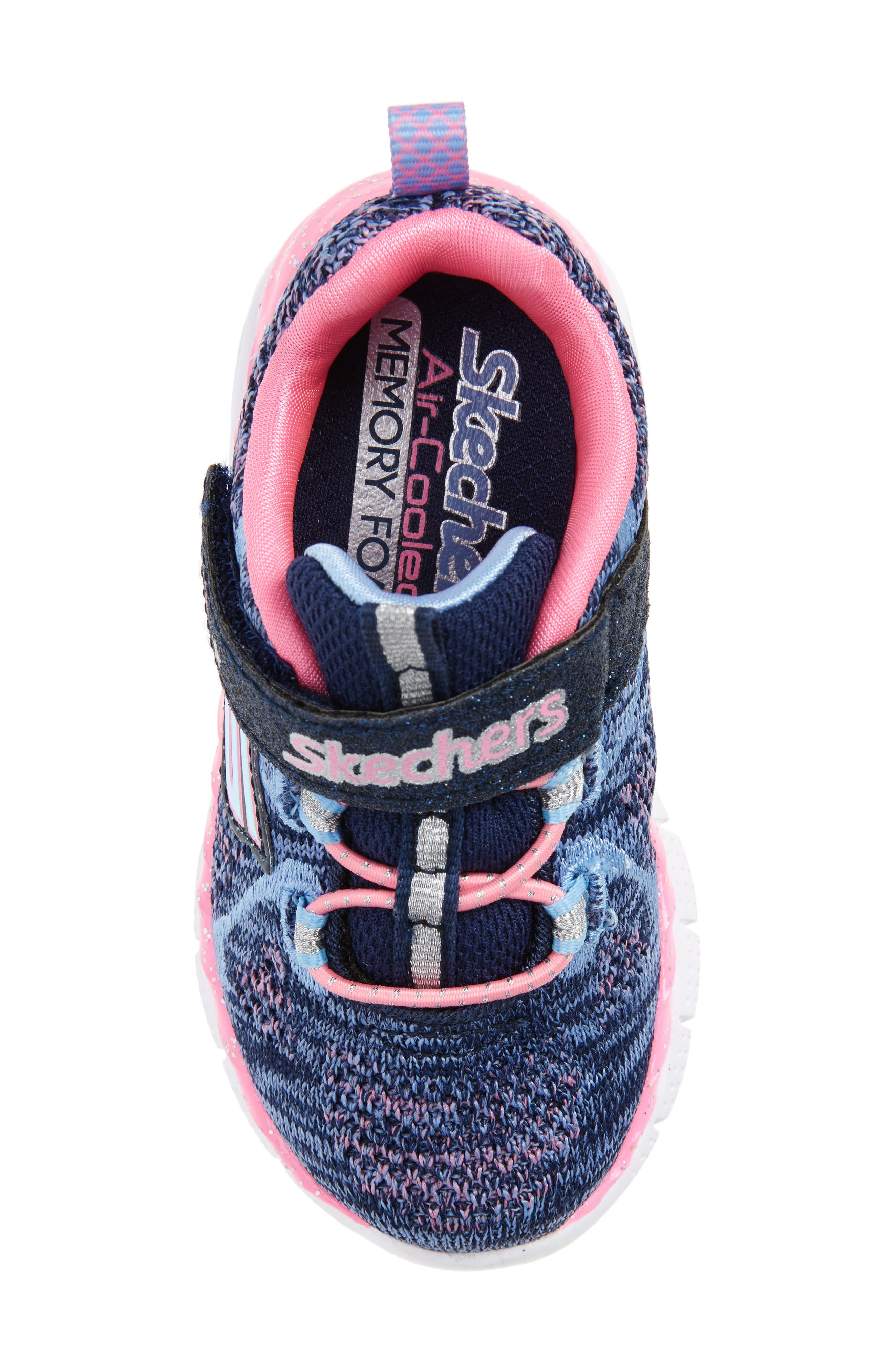 Air Appeal Breezy Baby Sneaker,                             Alternate thumbnail 5, color,                             Navy/ Pink