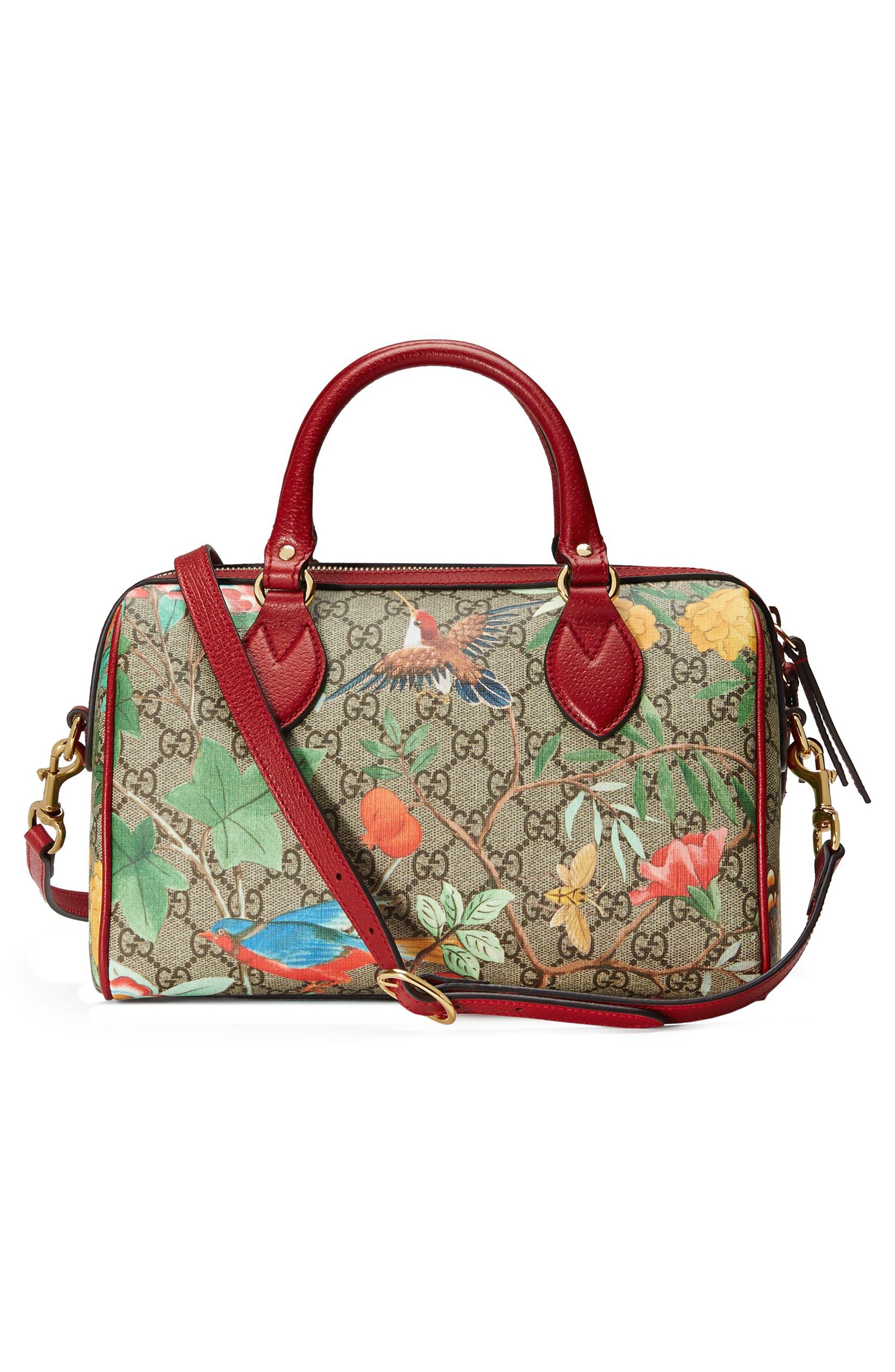 Alternate Image 2  - Gucci Tian Boston GG Supreme Small Canvas Duffel Bag