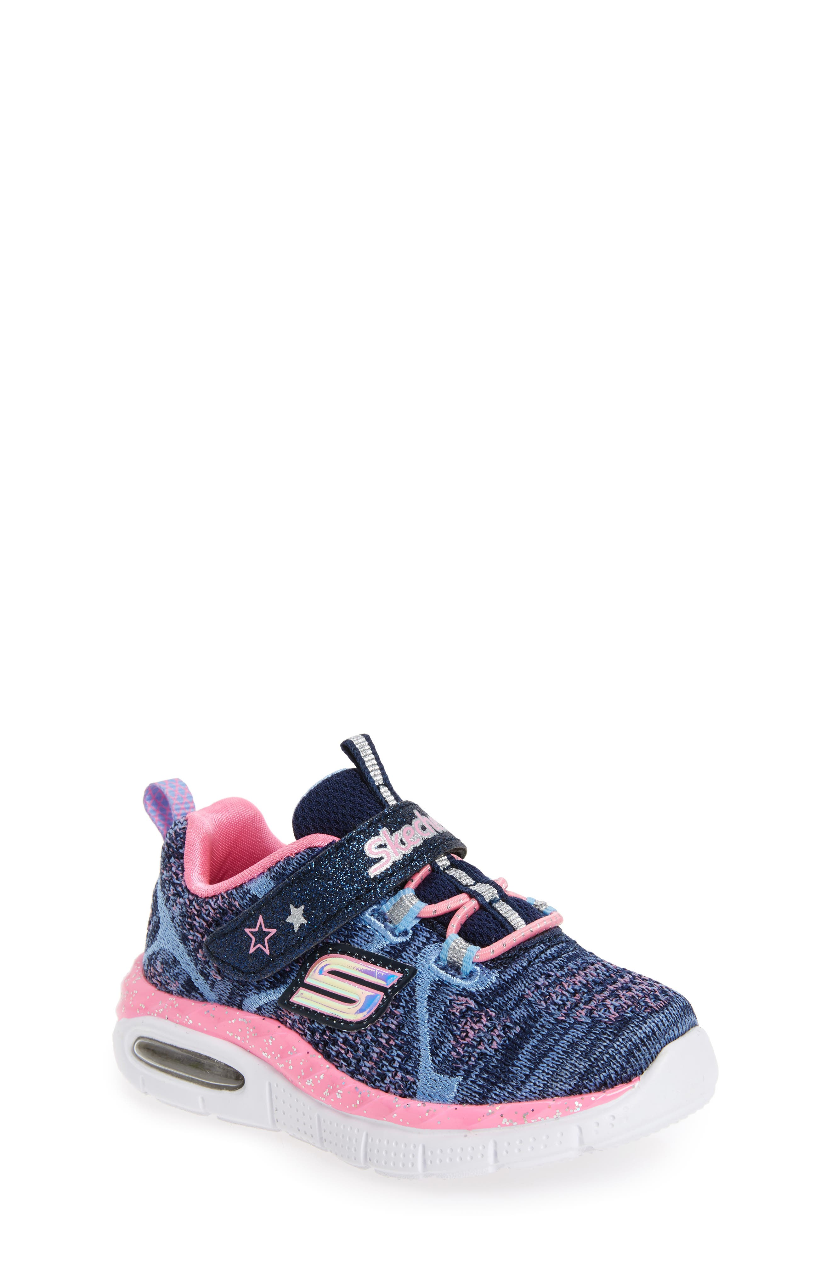 Air Appeal Breezy Baby Sneaker,                         Main,                         color, Navy/ Pink