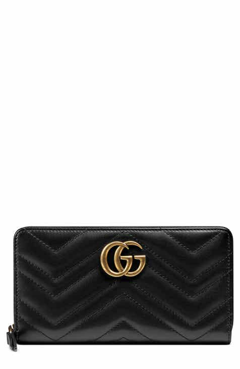 09ecf08900308 Gucci GG Marmont Matelassé Leather Zip-Around Wallet