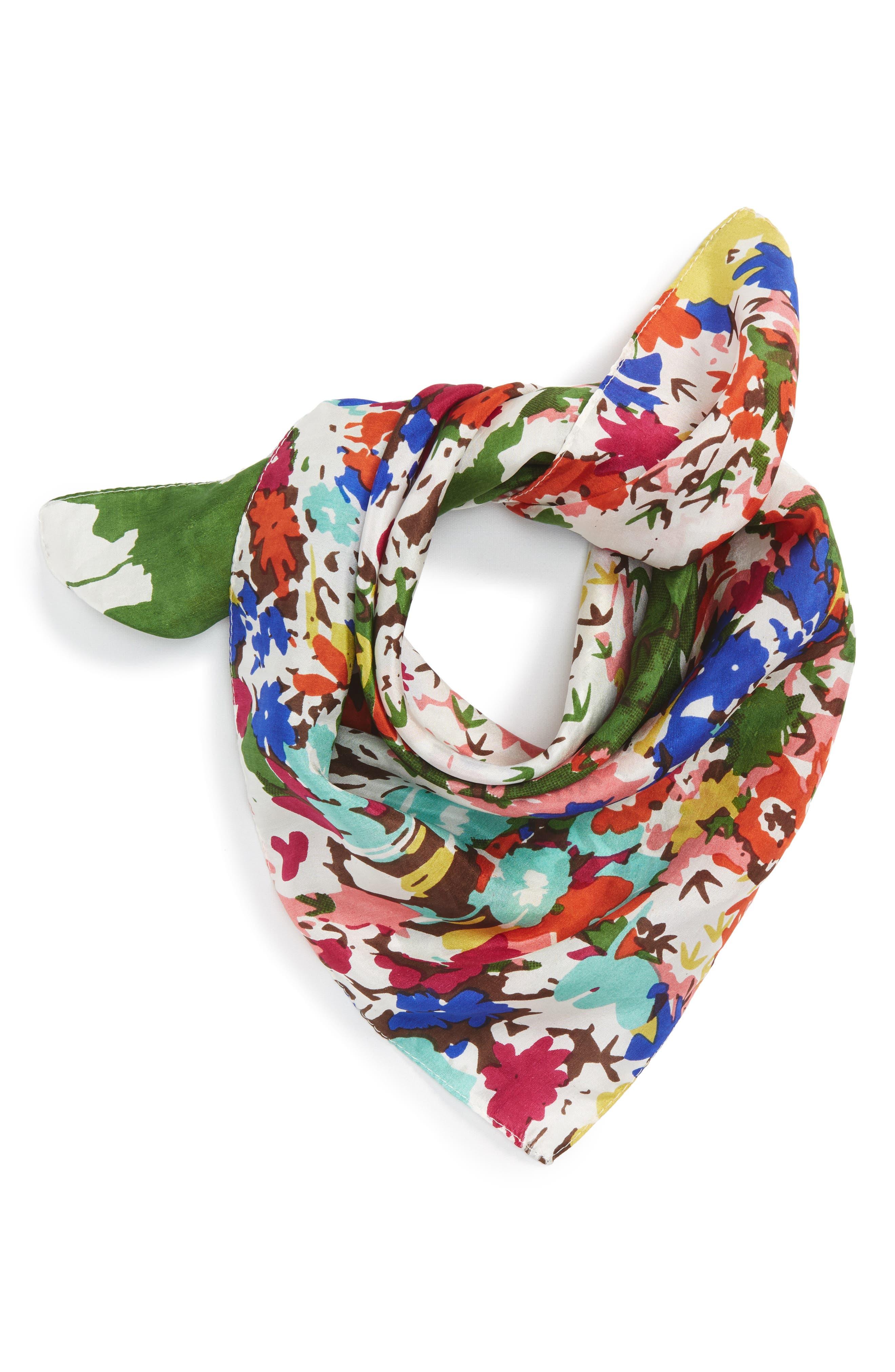 Main Image - Sole Society Floral Print Silk Bandana