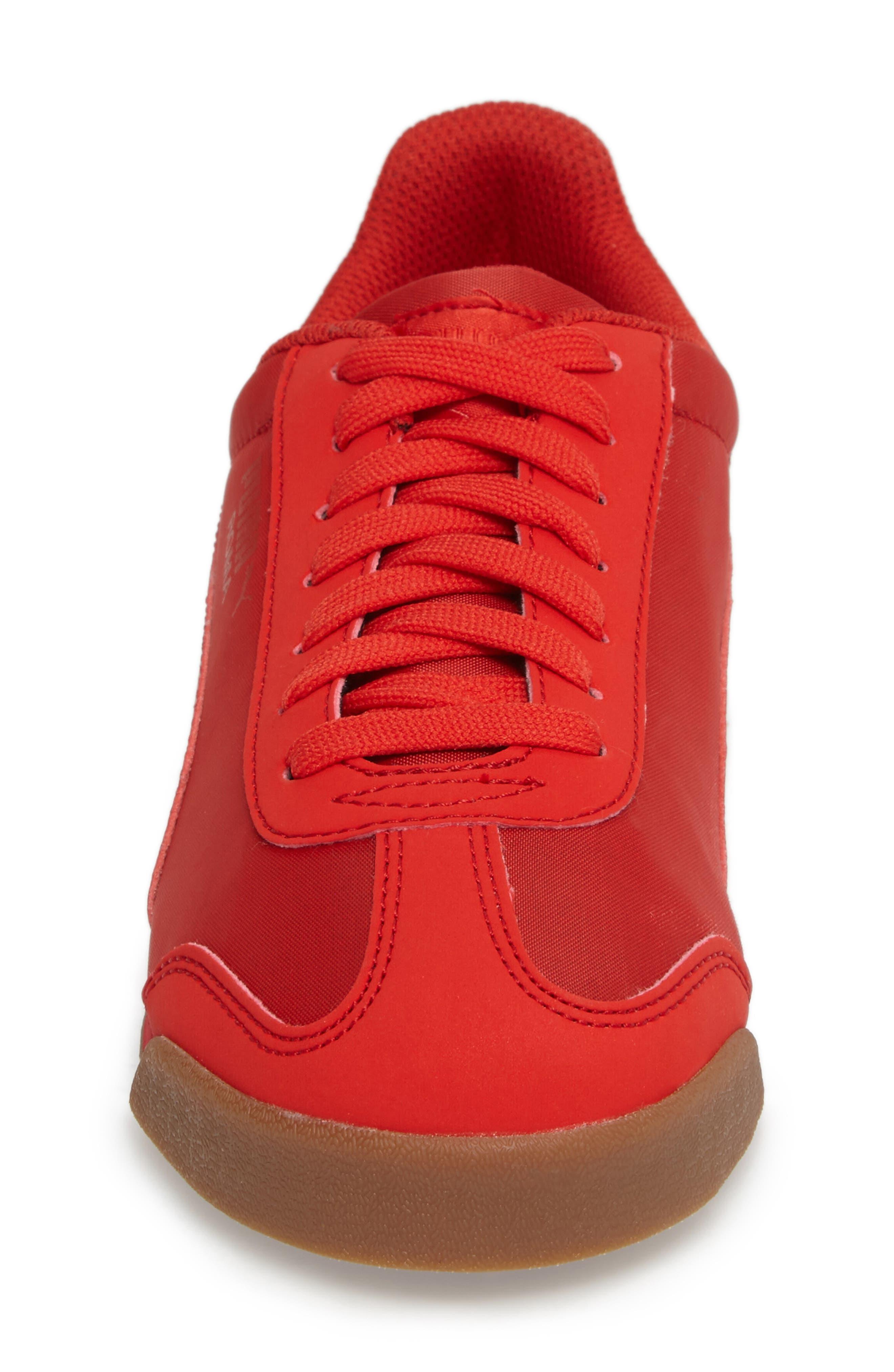 Roma Basic Summer Sneaker,                             Alternate thumbnail 4, color,                             High Risk Red