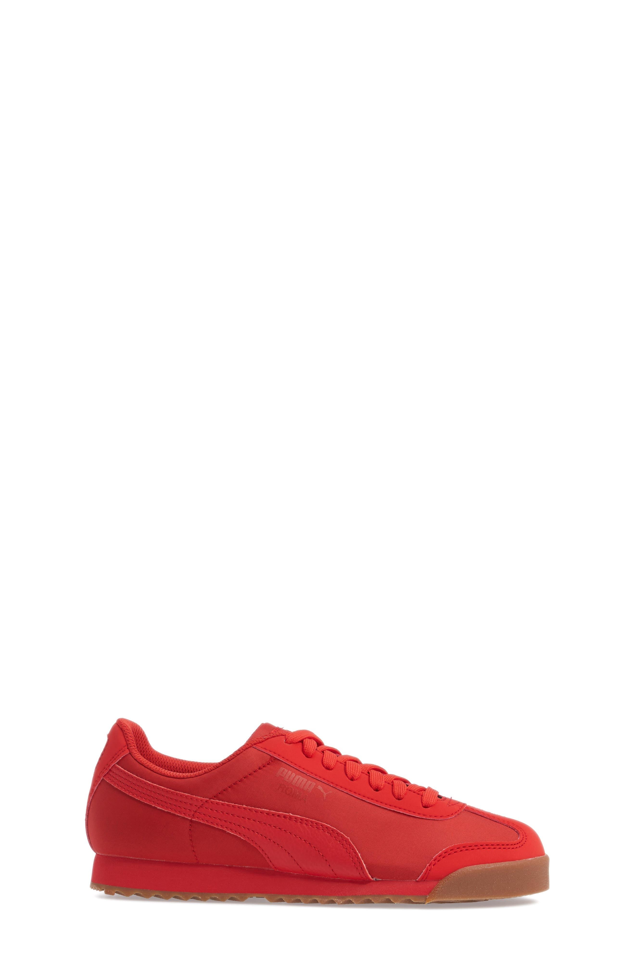 Roma Basic Summer Sneaker,                             Alternate thumbnail 3, color,                             High Risk Red