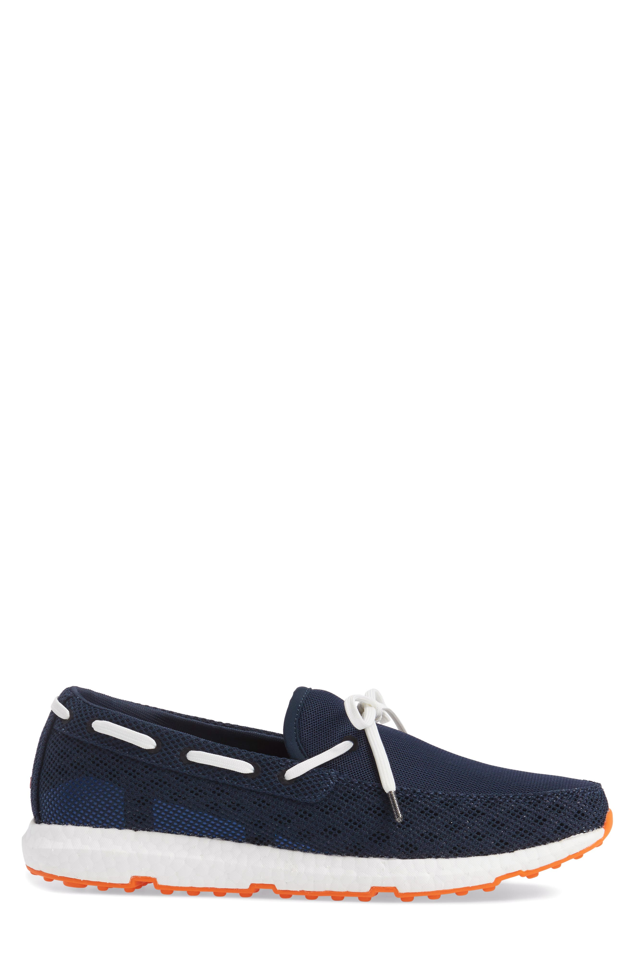 Breeze Loafer,                             Alternate thumbnail 3, color,                             Navy/ Orange Fabric