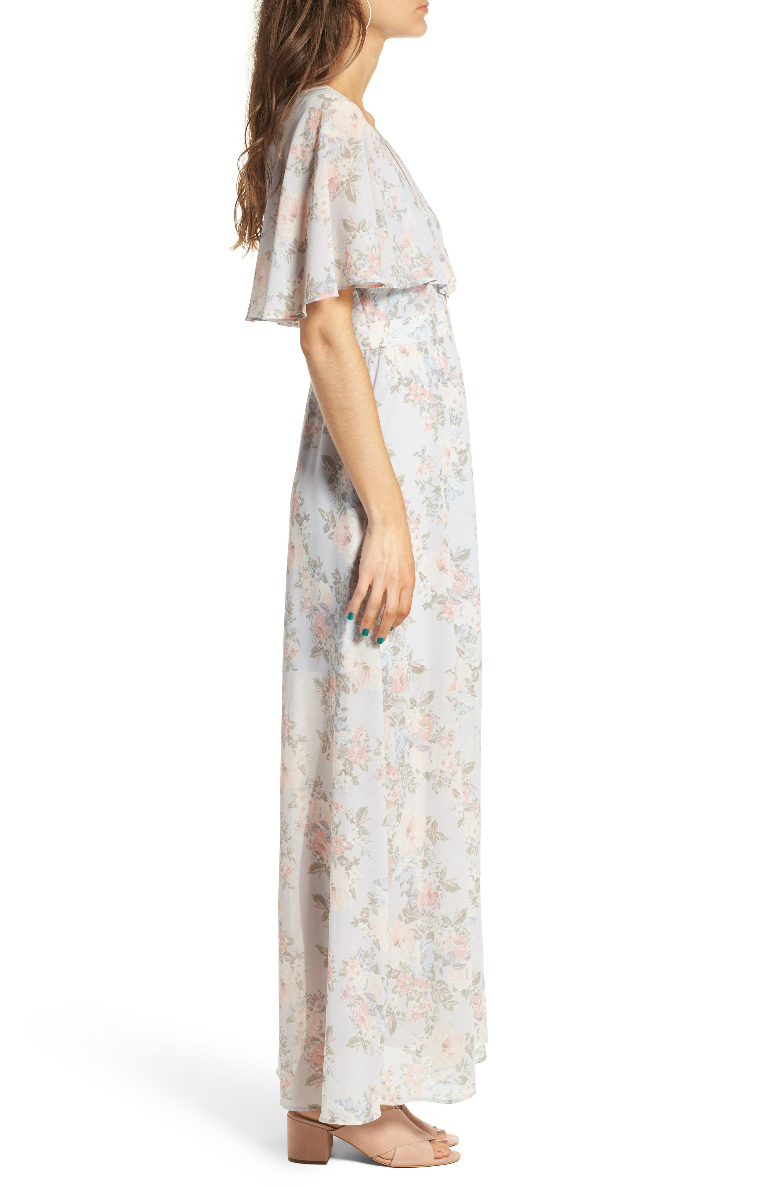 Alternate Image 3  - WAYF Love Note Flutter Sleeve Maxi Dress