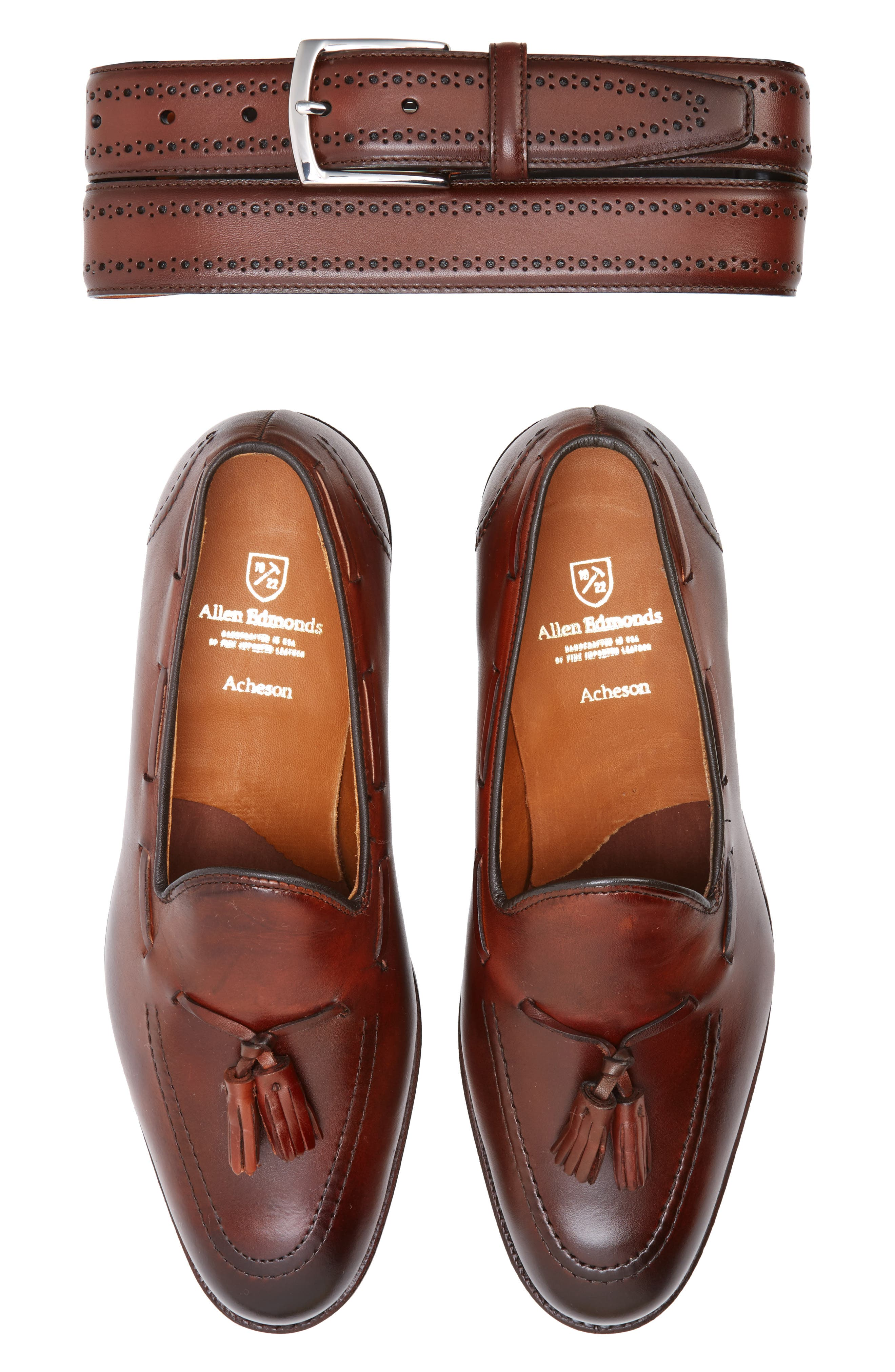'Acheson' Tassel Loafer,                             Alternate thumbnail 5, color,                             Dark Chili Burnished