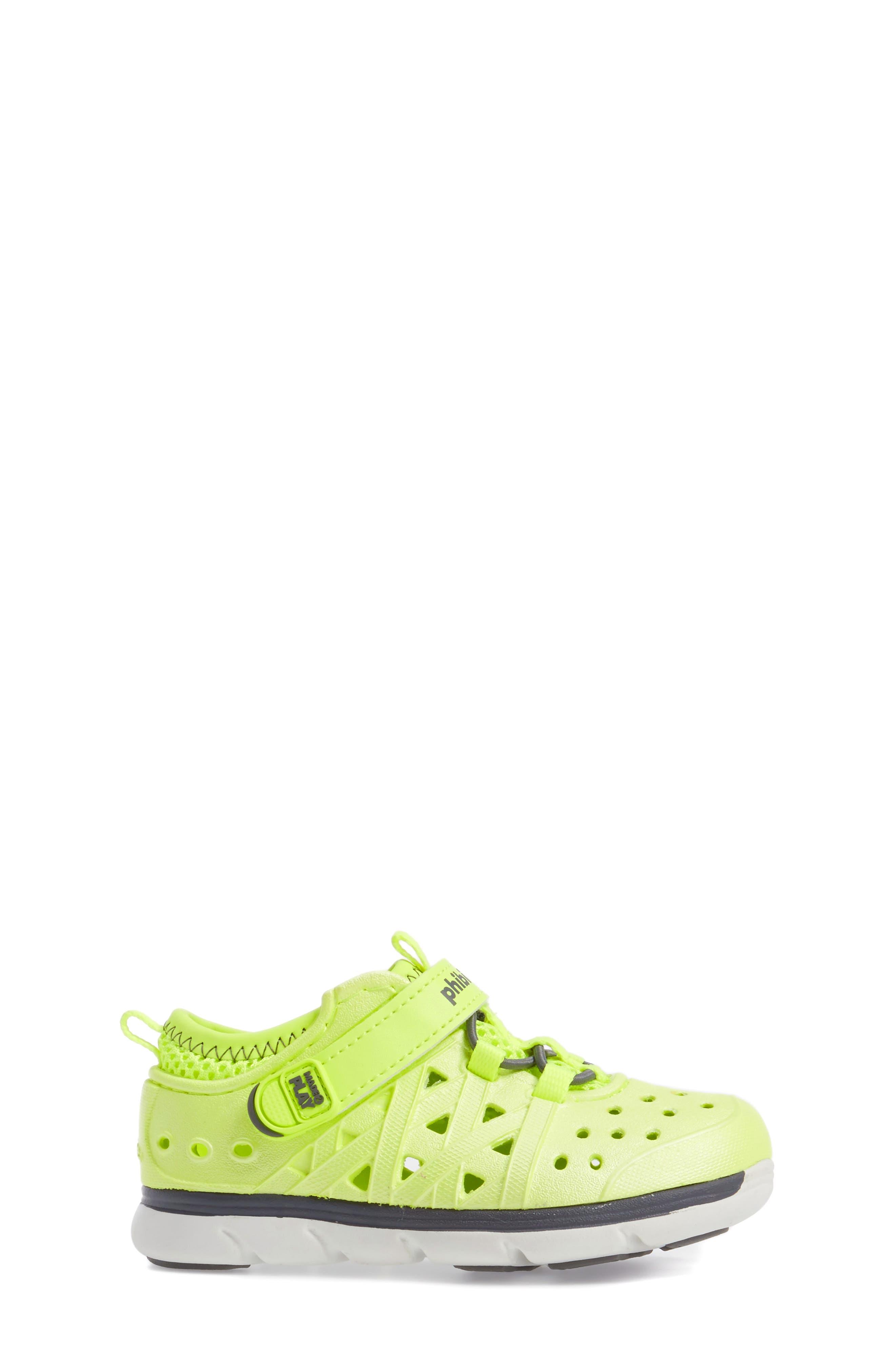 Made2Play<sup>®</sup> Phibian Sneaker,                             Alternate thumbnail 3, color,                             Citron Metallic