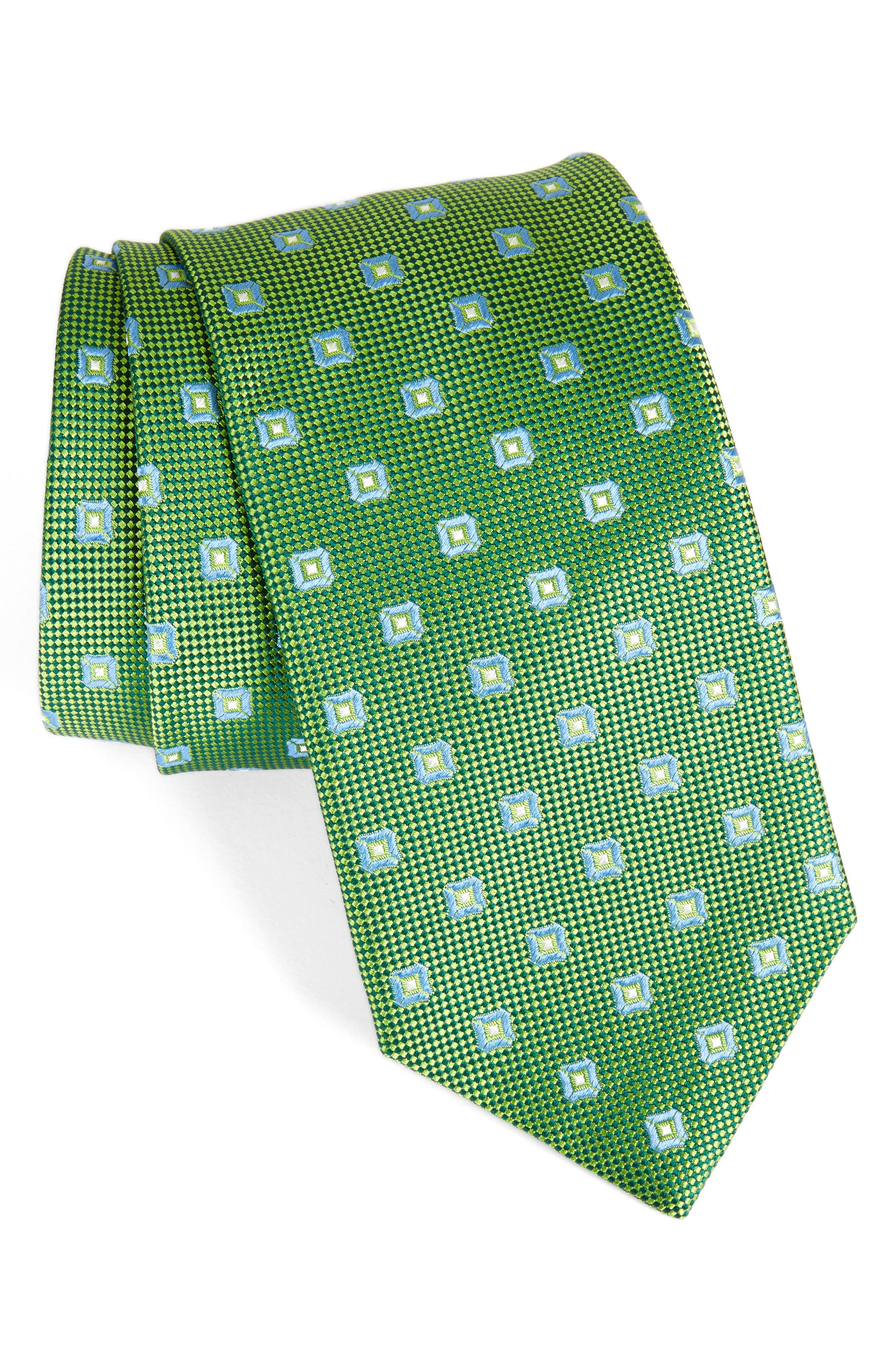DAVID DONAHUE Geometric Silk Tie