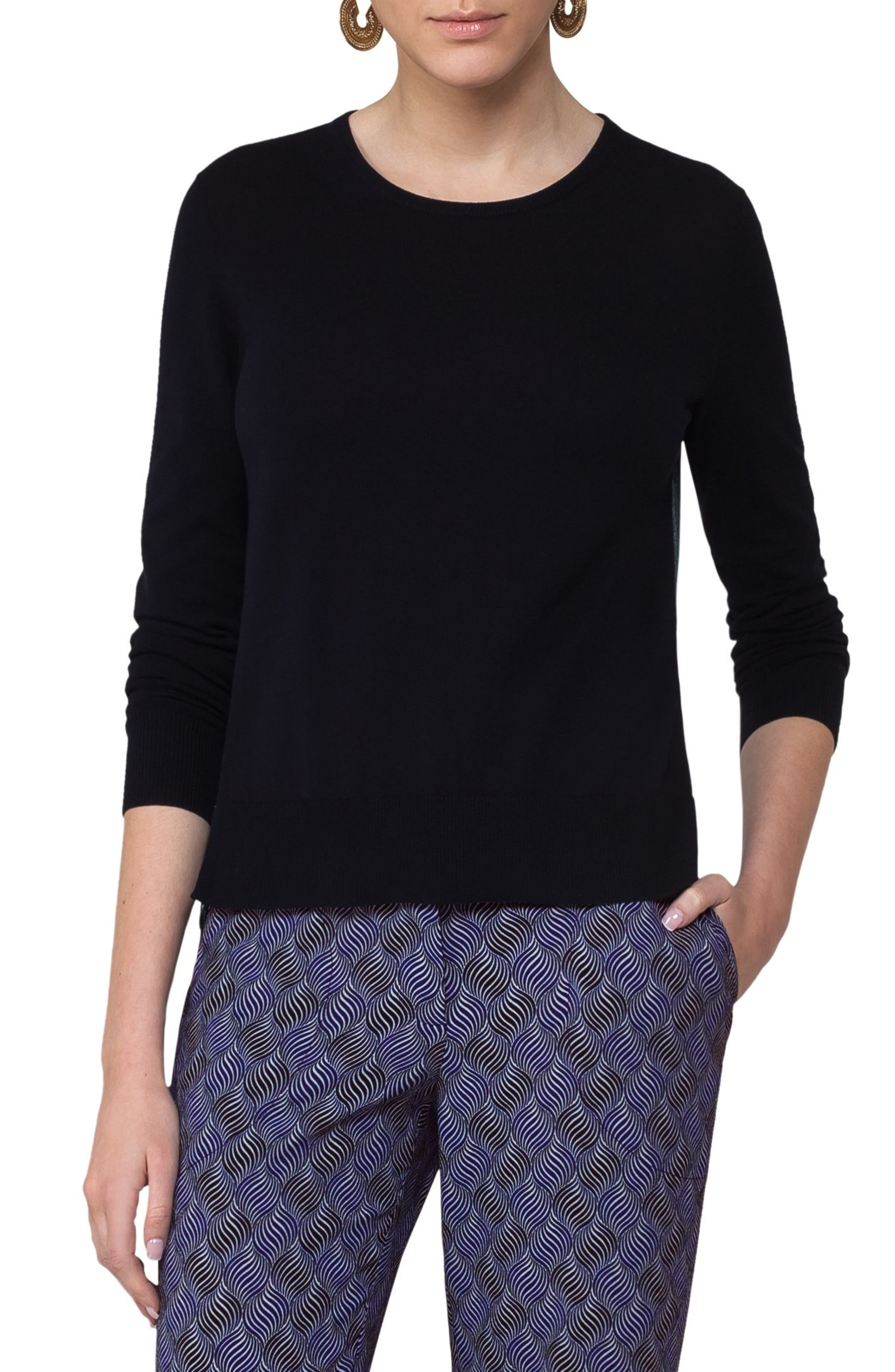 Las Rocas Print Back Pullover,                         Main,                         color, Solid Blue Denim